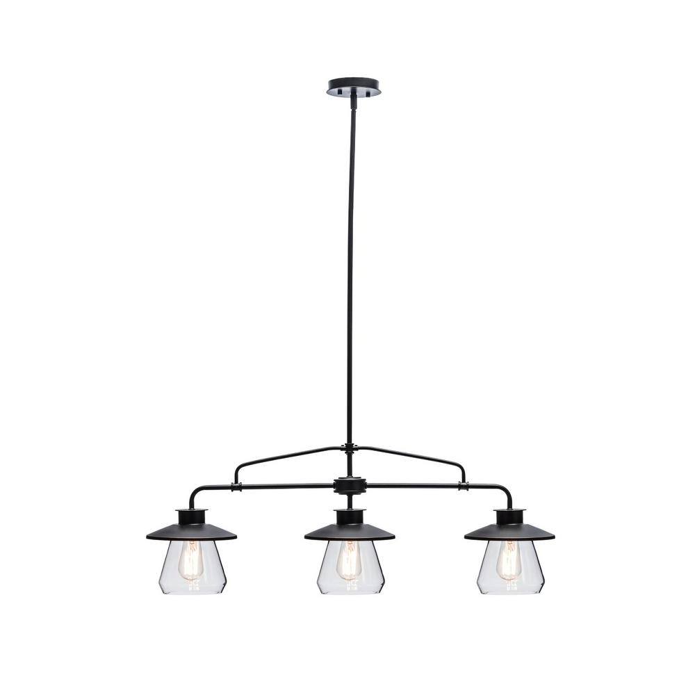 Well Known Schutt 5 Light Cluster Pendants Intended For 3 Light Oil Rubbed Bronze And Glass Vintage Pendant (View 20 of 20)
