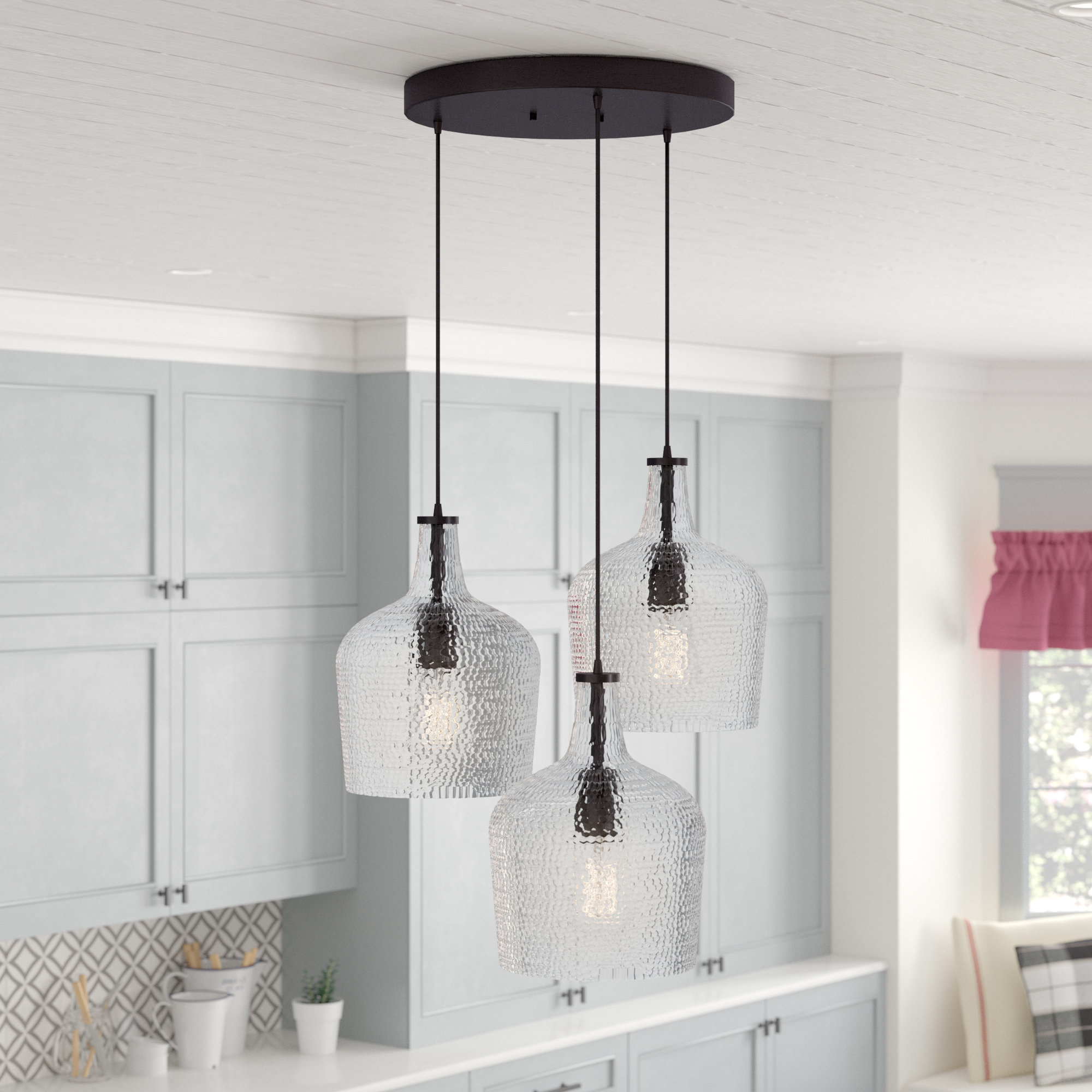 Well Known Scruggs 3 Light Cluster Pendant Regarding Scruggs 1 Light Geometric Pendants (View 18 of 20)