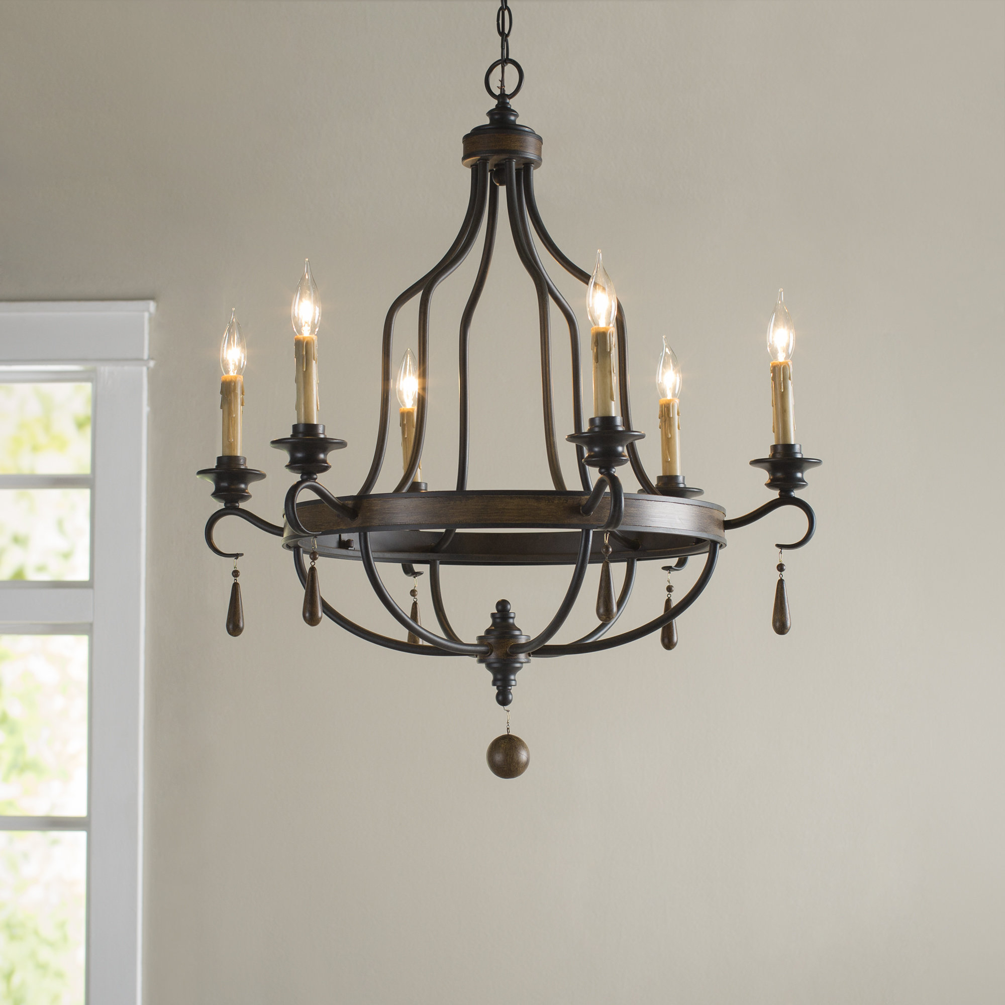 Well Known Sherri 6 Light Chandeliers Pertaining To Birch Lane™ Heritage Jamesburg 6 Light Chandelier (View 19 of 20)
