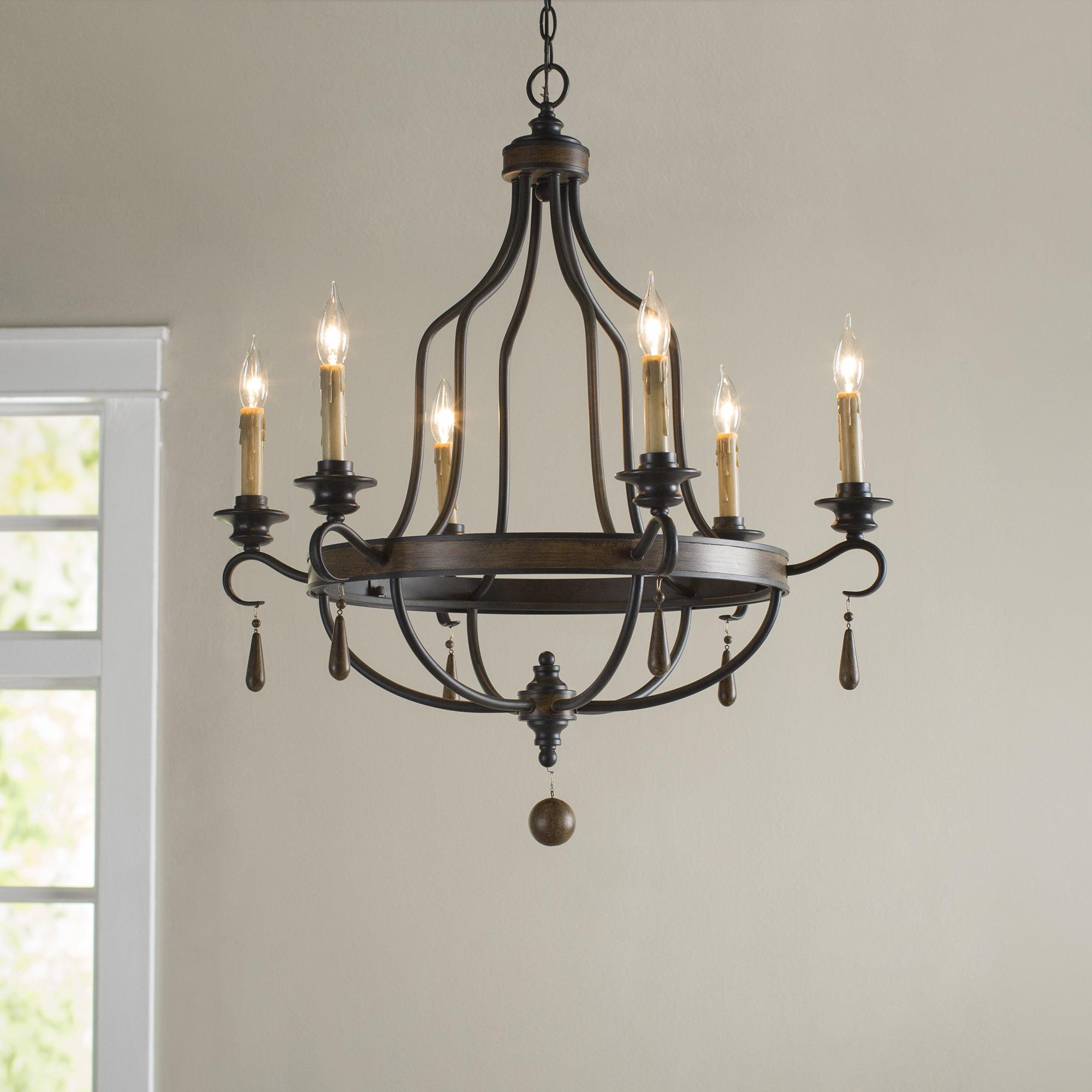 Well Known Sherri 6 Light Chandeliers Pertaining To Birch Lane™ Heritage Jamesburg 6 Light Chandelier (Gallery 17 of 20)