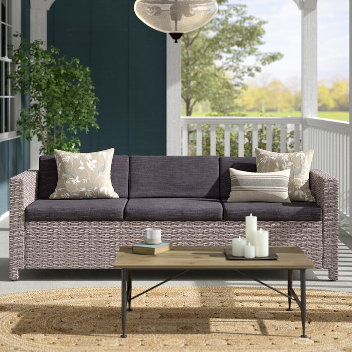 Well Known Silloth Patio Sofas With Cushions Throughout Furst Outdoor Patio Sofa With Cushions (View 19 of 20)