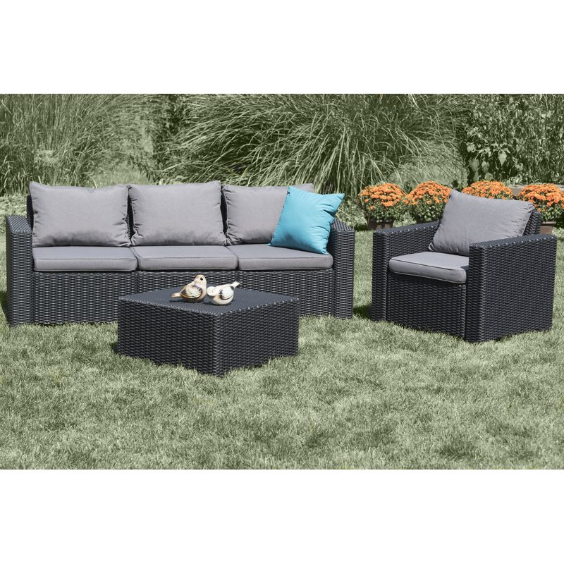 Well Known Stallcup Patio Sofa With Cushions Pertaining To Silloth Patio Sofas With Cushions (View 20 of 20)