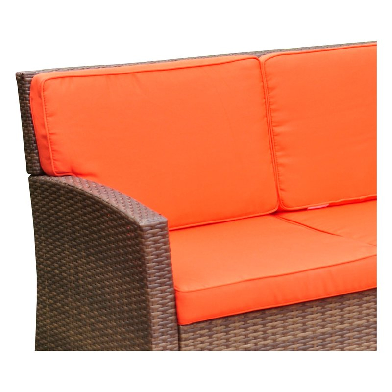 Well Known Stapleton Wicker Resin Patio Sofas With Cushions For Stapleton Wicker Resin Patio Sofa With Cushions (View 3 of 20)