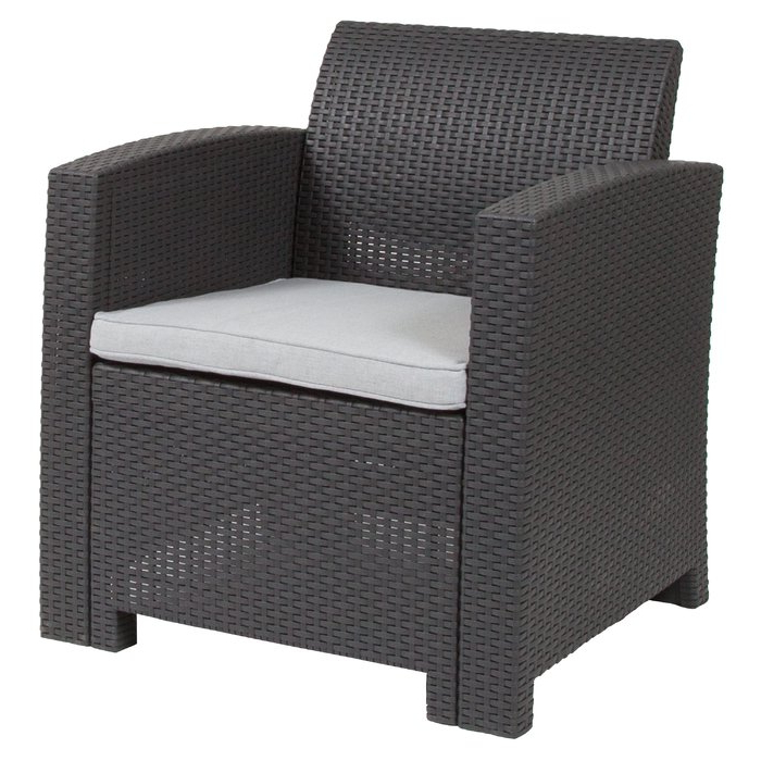 Well Known Stockwell Patio Sofas With Cushions In Stockwell Patio Chair With Cushion (View 6 of 20)