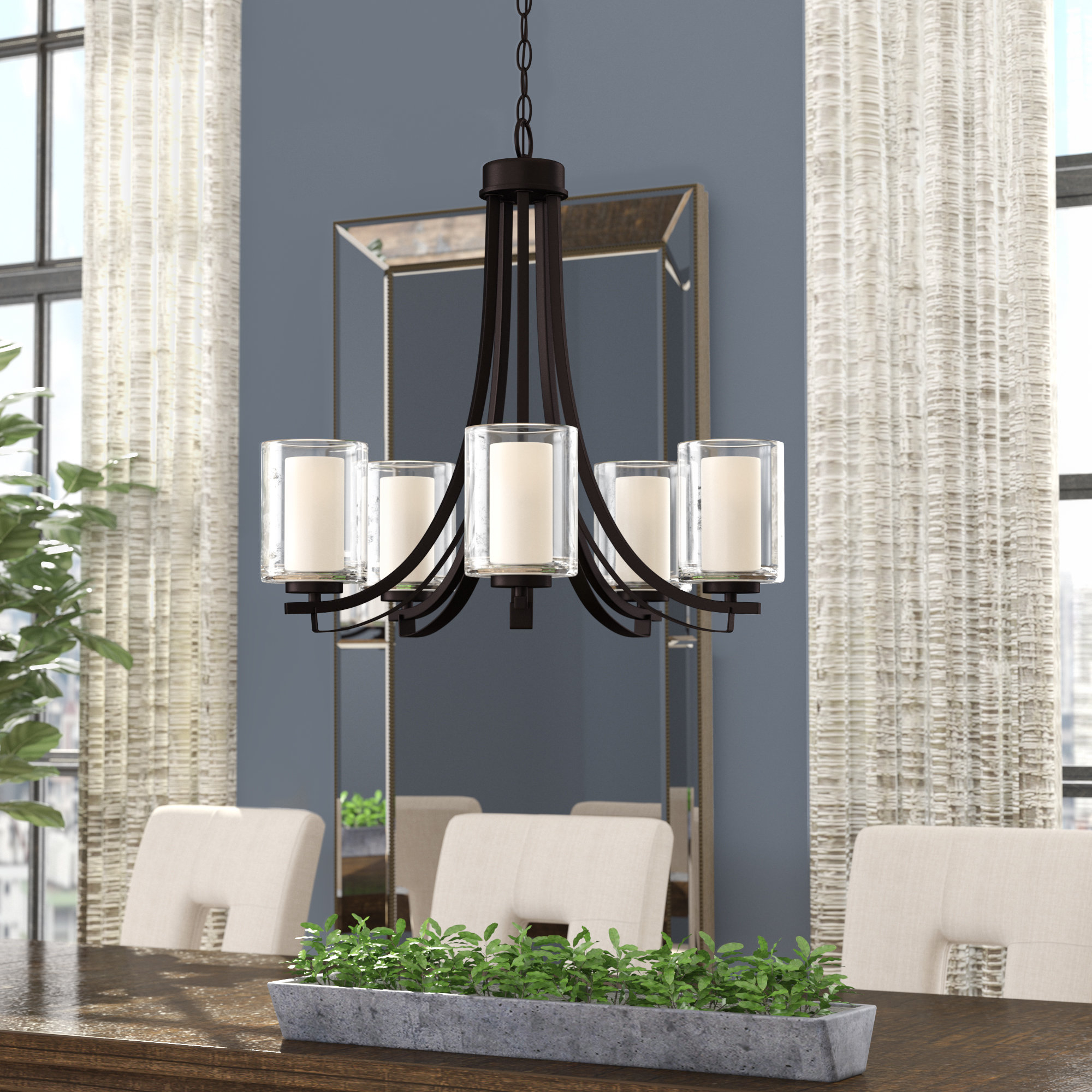 Well Known Suki 5 Light Shaded Chandelier (View 17 of 20)