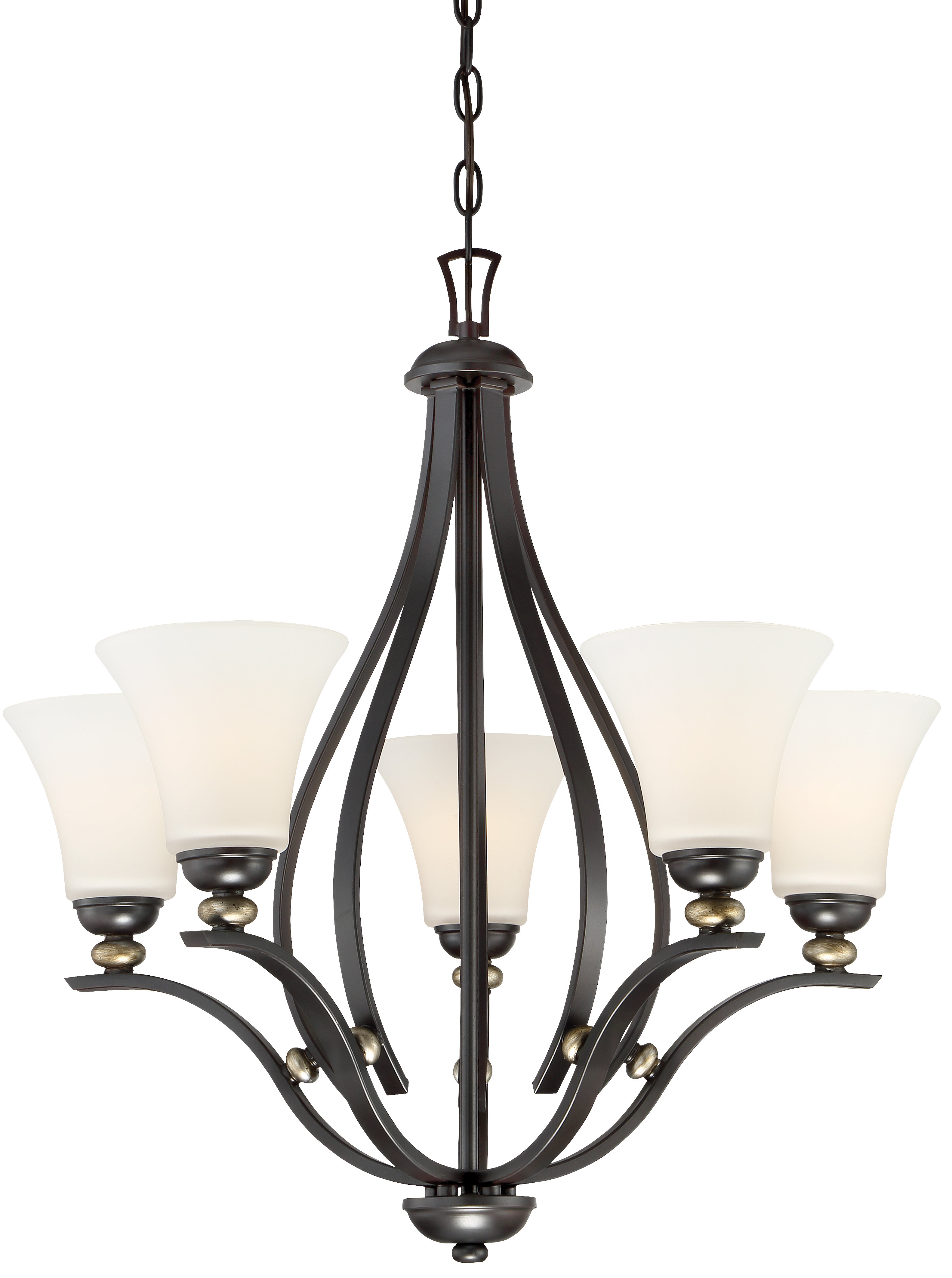 Well Known Suki 5 Light Shaded Chandelier (View 7 of 20)