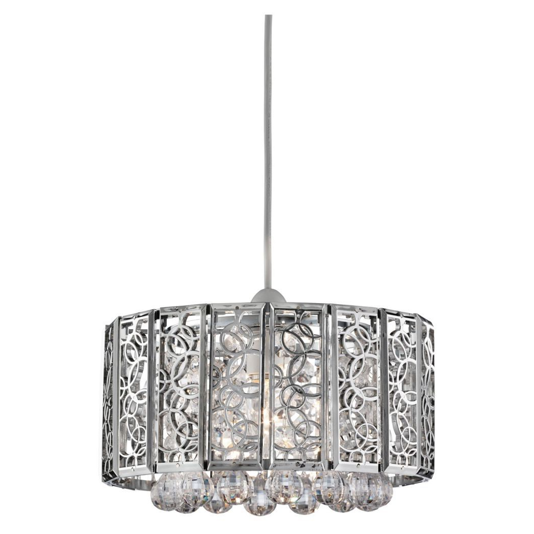 Well Known Suki Pendant Light Shade Chrome (View 19 of 20)