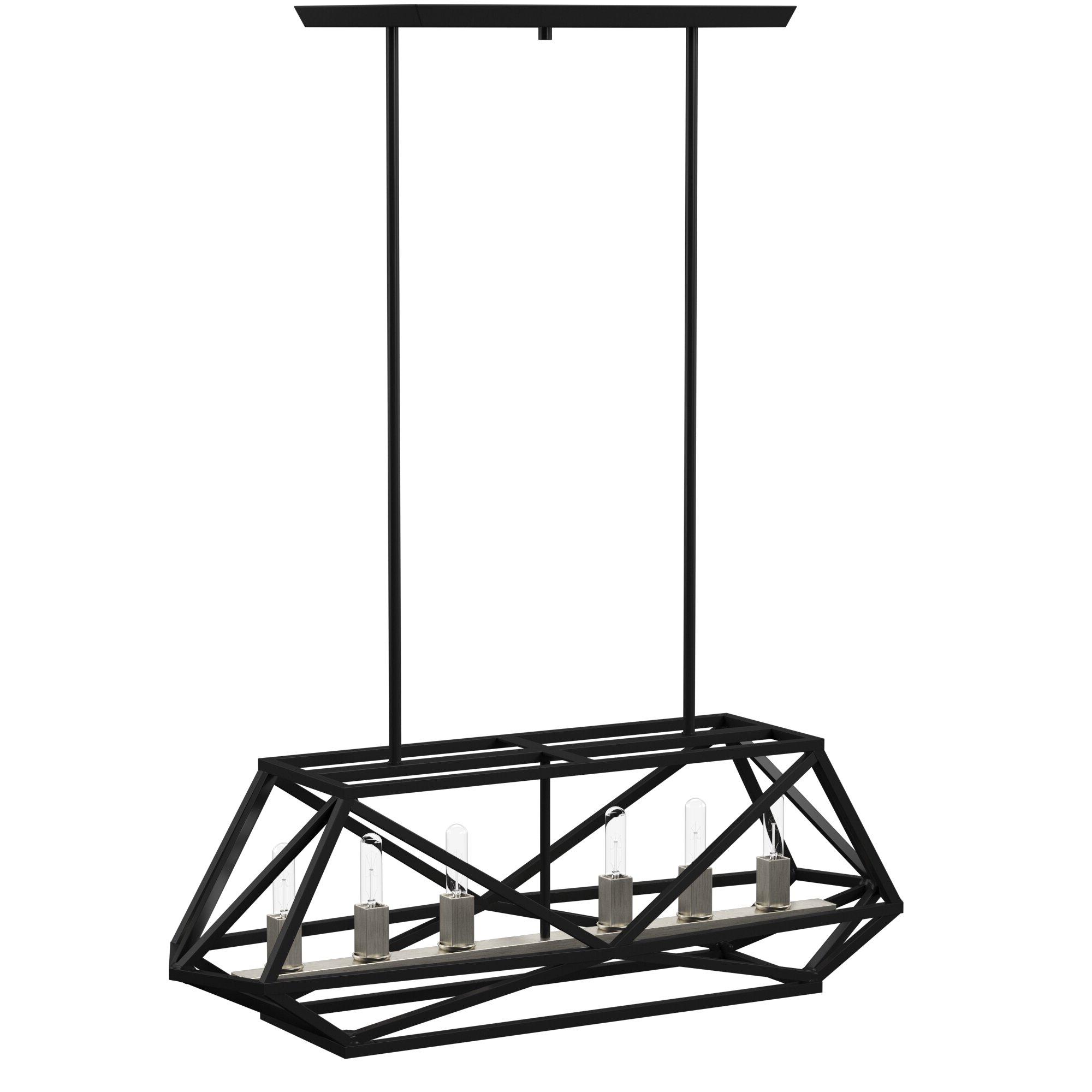 Well Known Tabit 5 Light Geometric Chandeliers Within Tabit 6 Light Rectangle Chandelier (View 19 of 20)