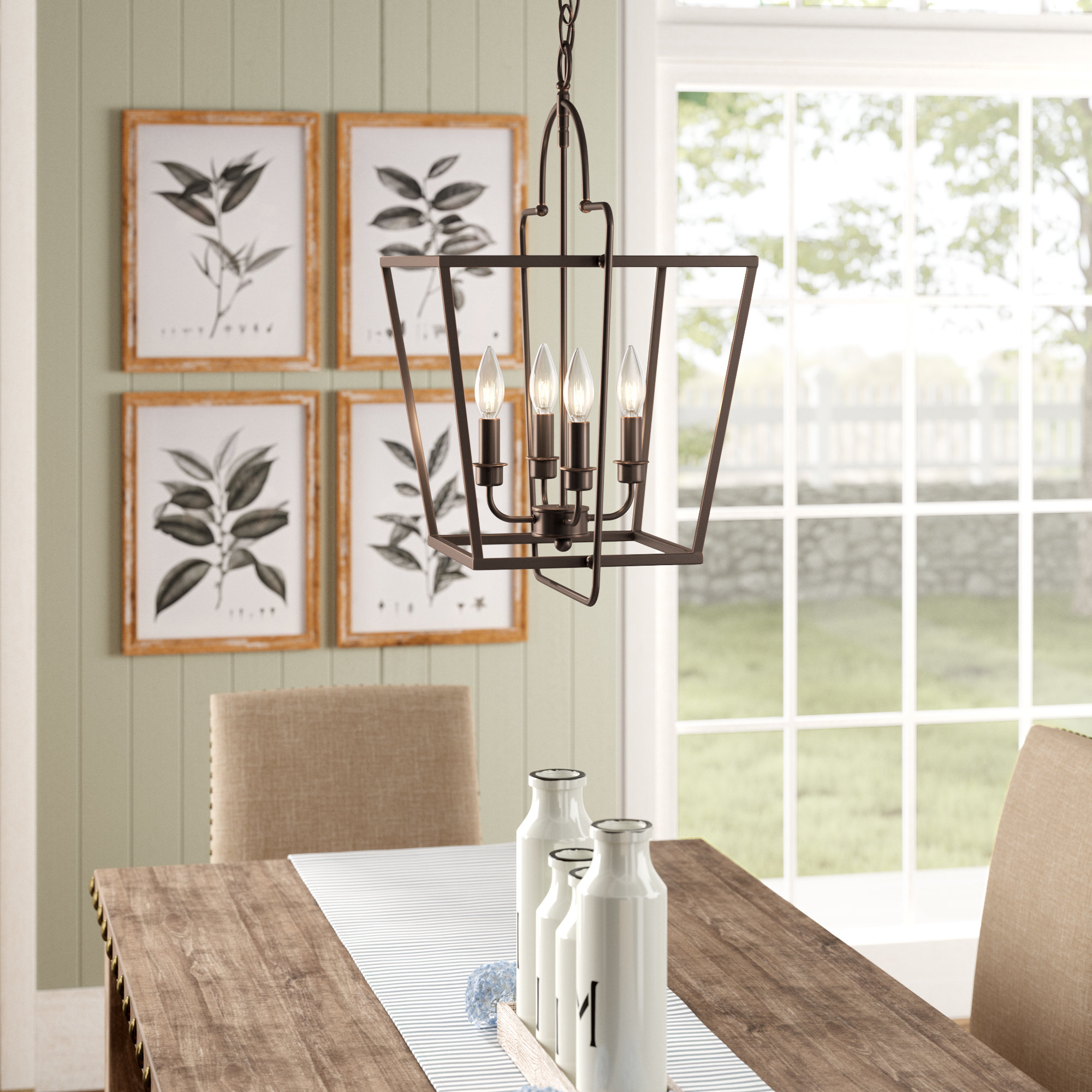 Well Known Thea 4 Light Lantern Chandelier For Tiana 4 Light Geometric Chandeliers (View 18 of 20)
