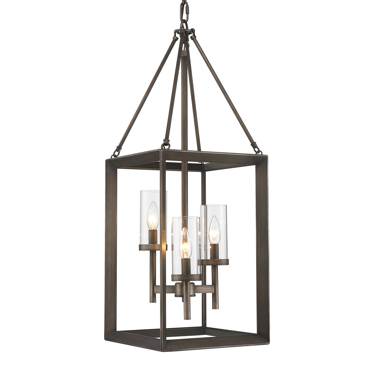 Well Known Thorne 3 Light Foyer Pendant Throughout Thorne 6 Light Lantern Square / Rectangle Pendants (View 18 of 20)