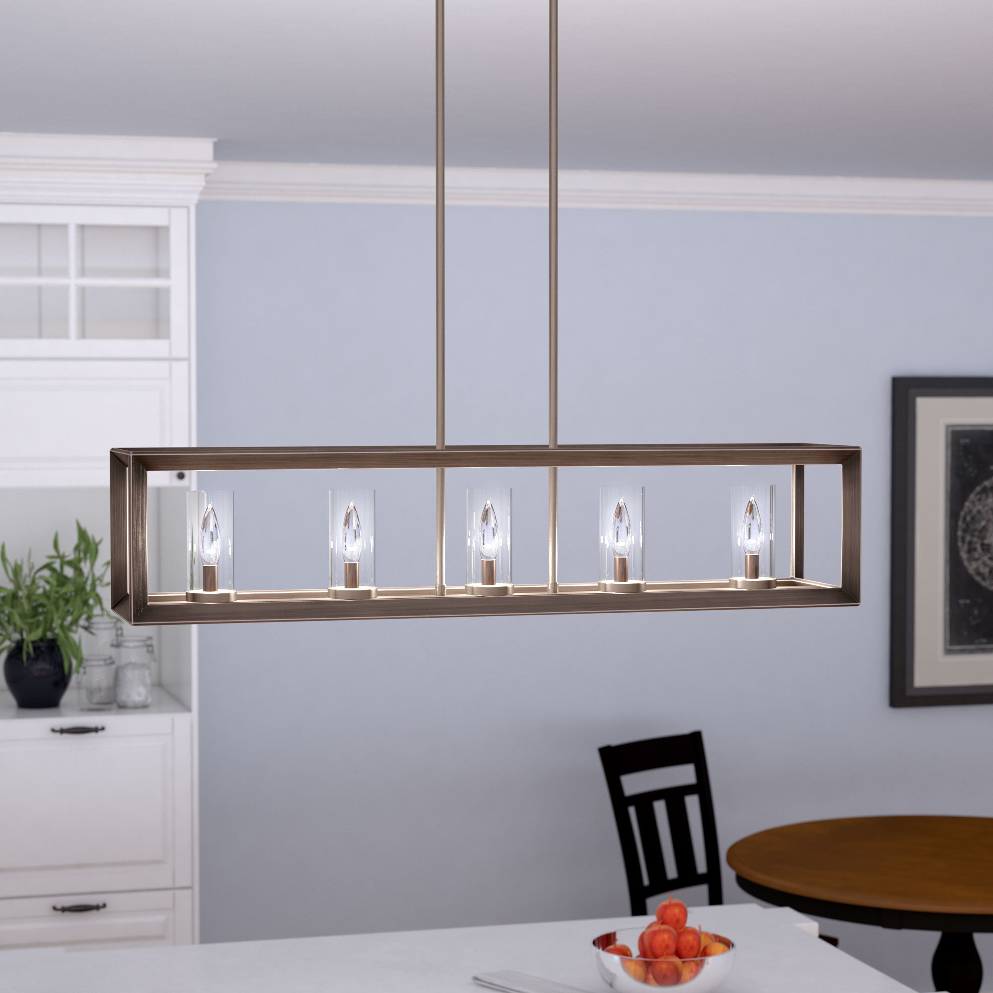 Well Known Thorne 5 Light Kitchen Island Pendants Throughout Thorne 5 Light Kitchen Island Pendant (Gallery 4 of 20)