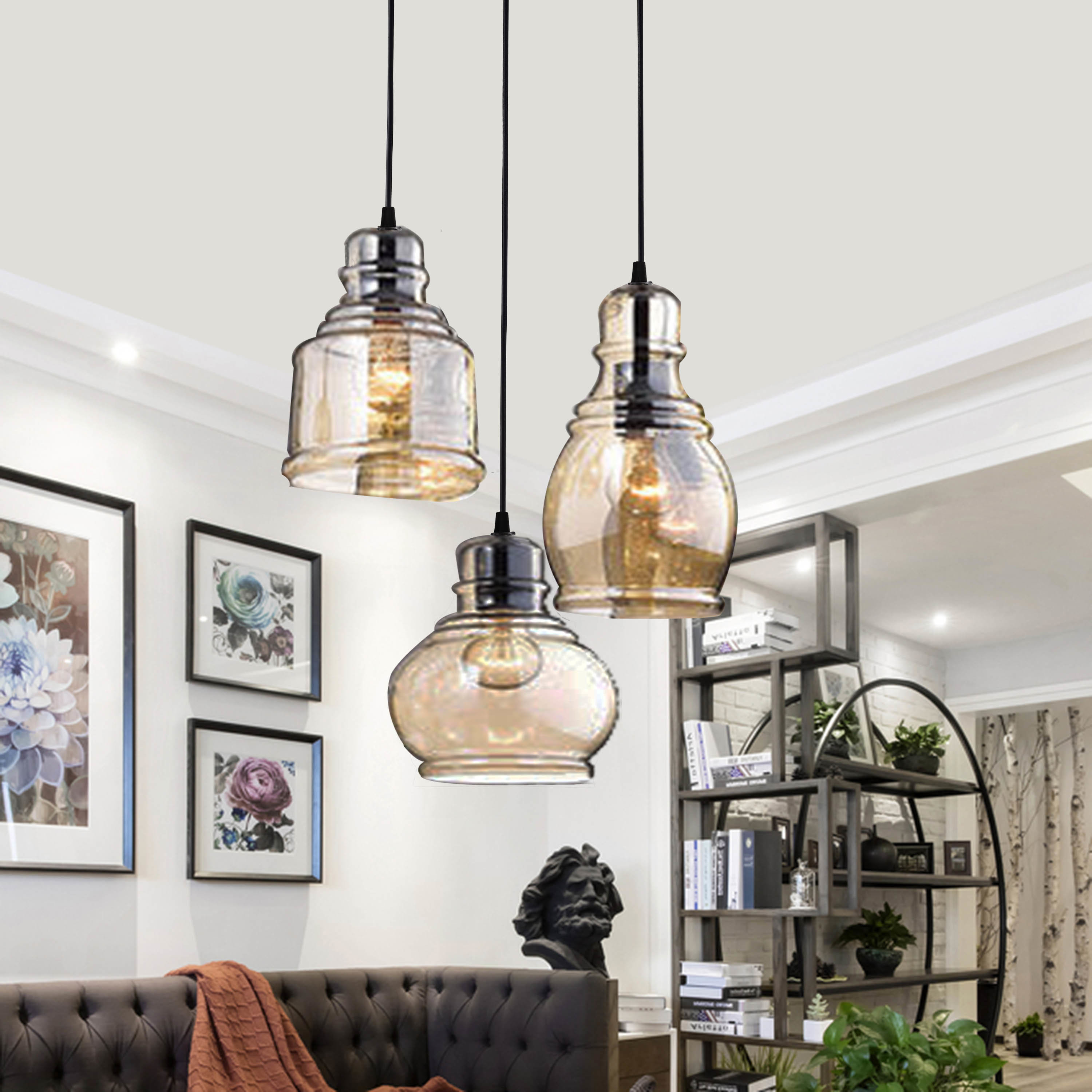 Well Known Three Posts Vernice Vintage 3 Light Cluster Pendant For Dunson 3 Light Kitchen Island Pendants (View 18 of 20)
