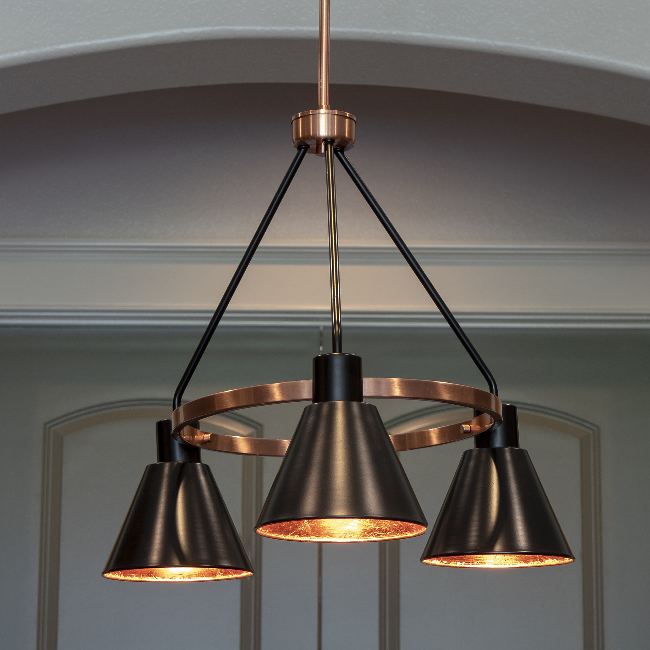 Well Known Thresa 5 Light Shaded Chandeliers With Regard To Wilmslow 3 Light Shaded Chandelier (View 19 of 20)