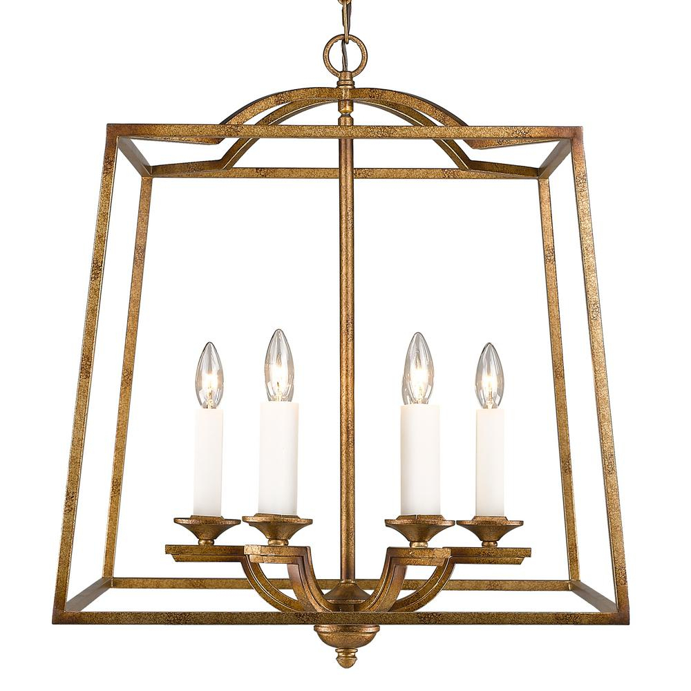 Well Known Tiana 4 Light Geometric Chandeliers With Regard To Golden Lighting Athena 6 Light Grecian Gold Pendant (View 15 of 20)