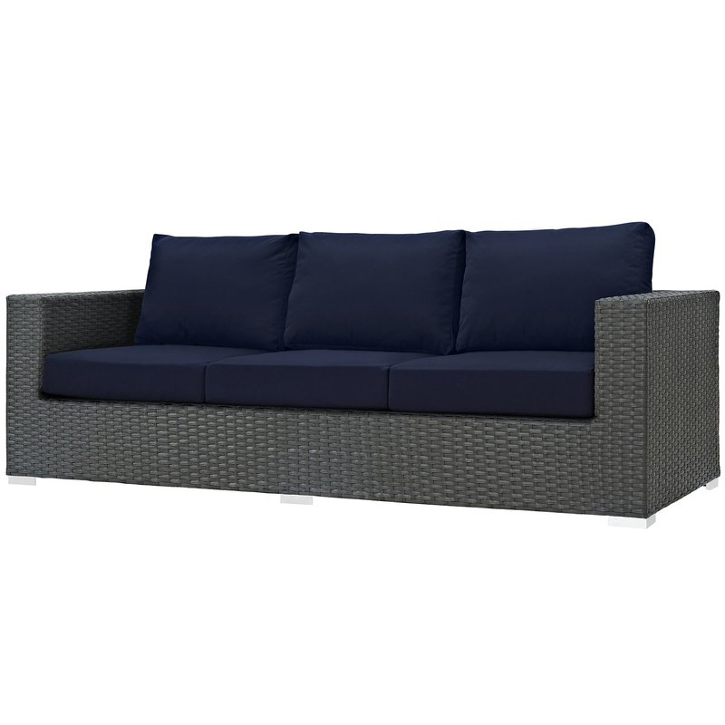 Well Known Tripp 3 Piece Sunbrella Sectional Set With Cushions Inside Tripp Loveseats With Cushions (View 17 of 20)
