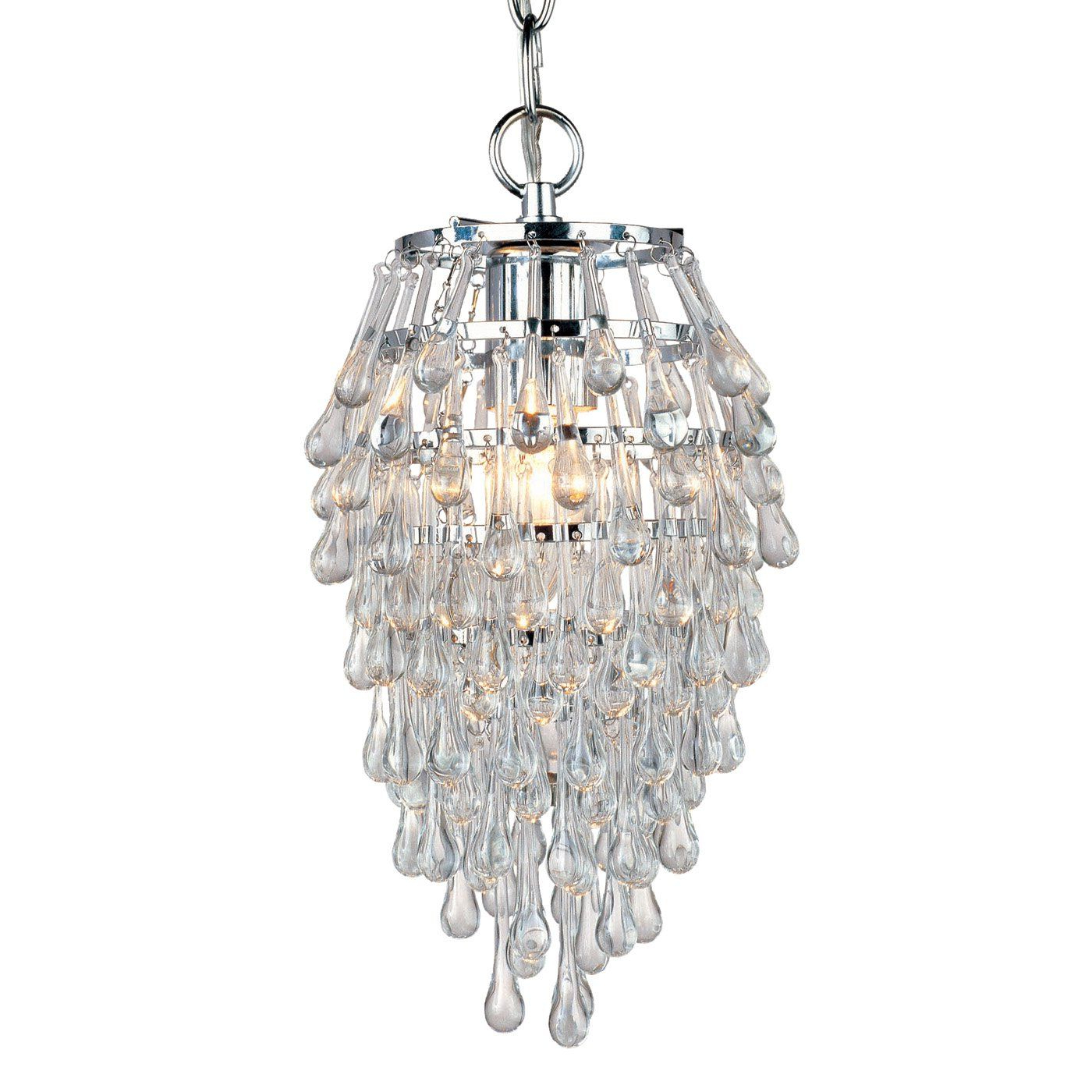 Well Known Use 3 In A Row – Af Lighting 4950 1H Crystal Teardrop Mini With Regard To Clea 3 Light Crystal Chandeliers (View 6 of 20)