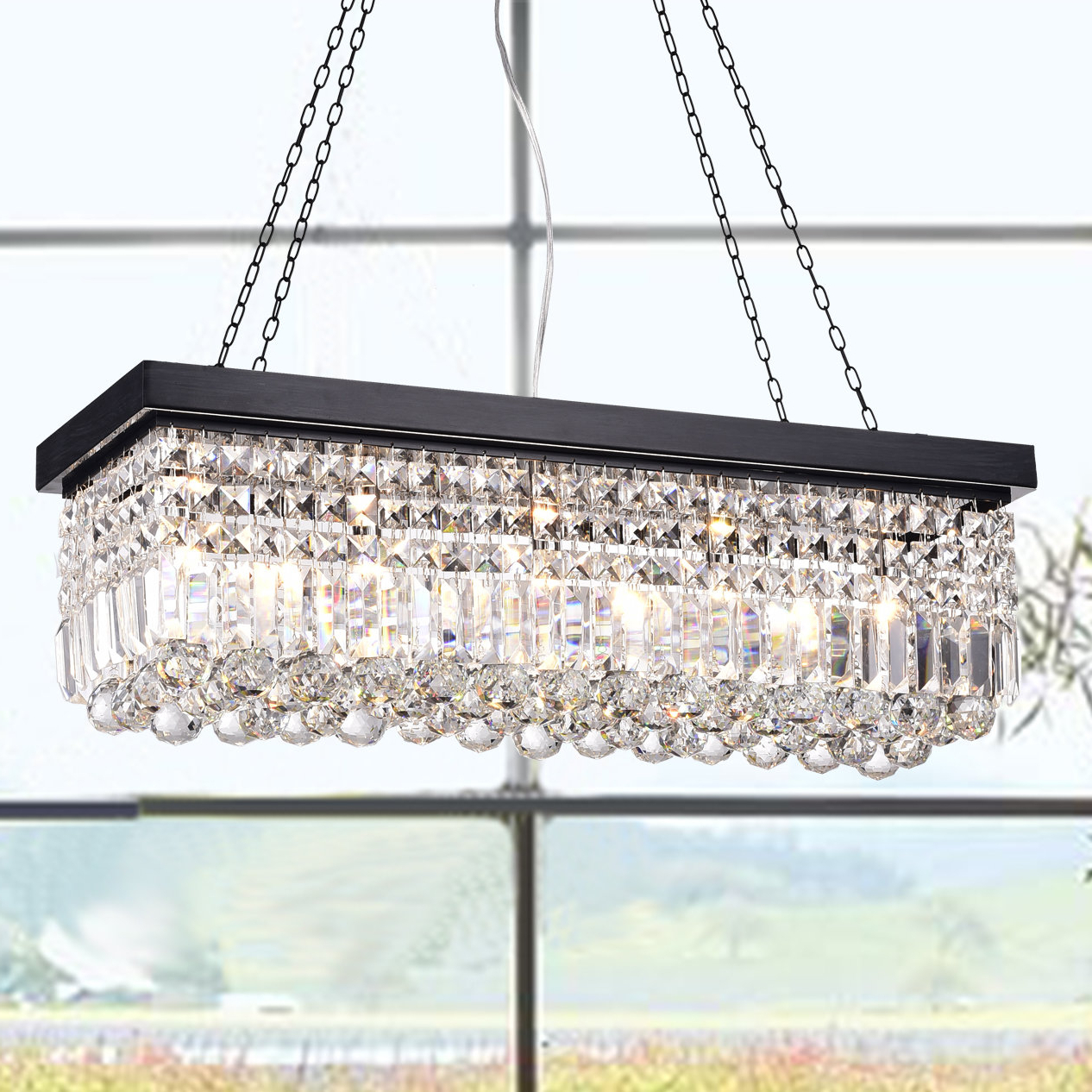 Well Known Verdell 5 Light Crystal Chandeliers Pertaining To Verdell 5 Light Crystal Chandelier (Gallery 1 of 20)