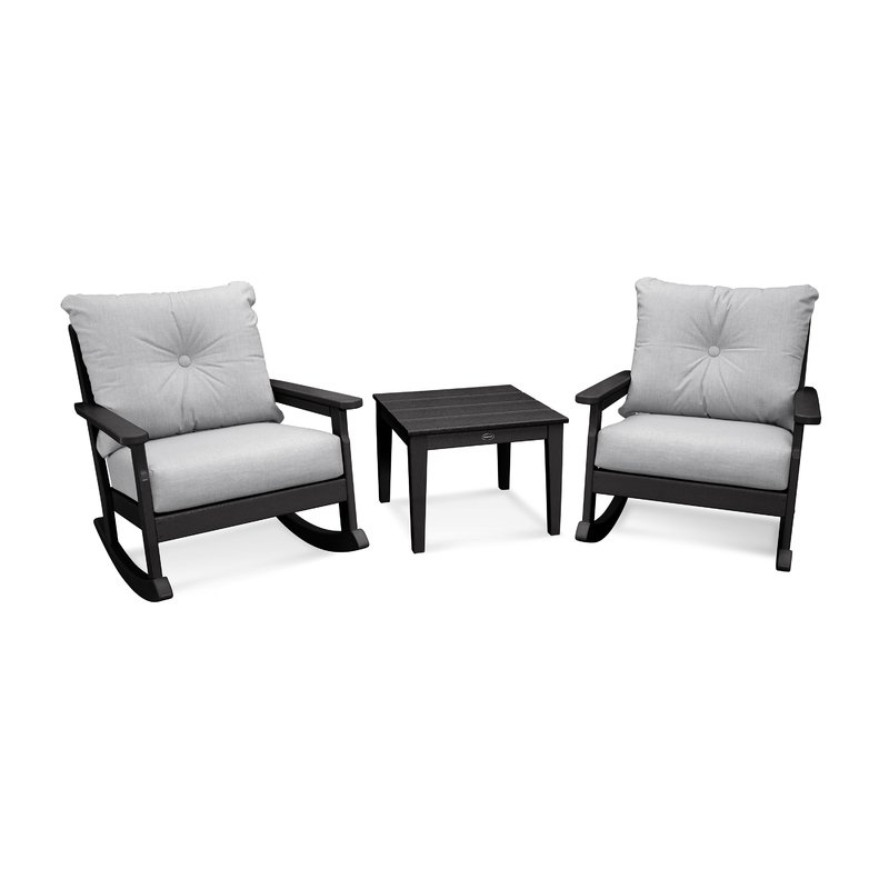 Well Known Vineyard Deep Seating 3 Piece Conversation Set With Cushions In Vineyard Deep Seating Sofas (View 19 of 20)