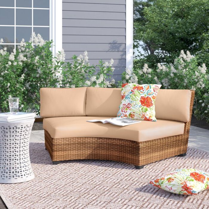 Well Known Waterbury Curved Sofa With Cushions For Waterbury Curved Armless Sofa With Cushions (View 4 of 20)