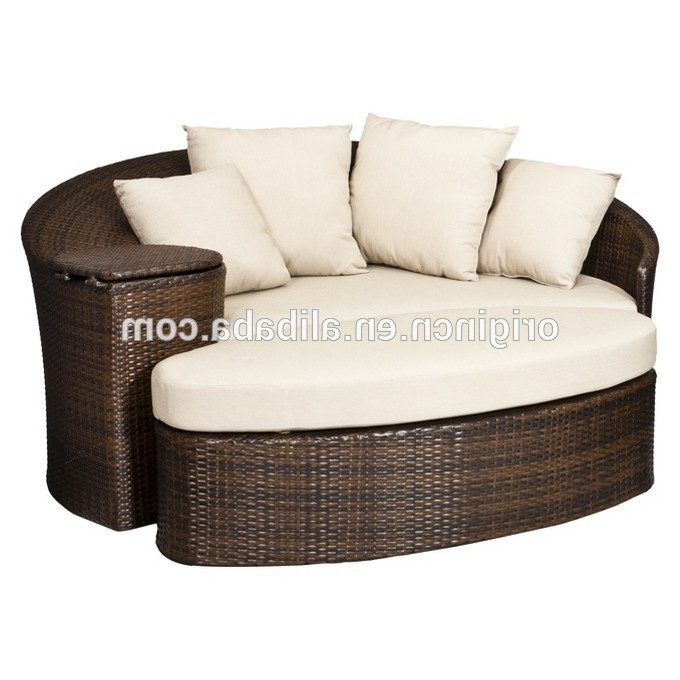 Well Known Wicker Loveseats Pertaining To Patio Loveseat And Ottoman Sectional Round Sun Bed With Cooler Rattan  Outdoor Daybed – Buy Outdoor Daybed,sun Bed,day Bed Product On Alibaba (Gallery 13 of 20)