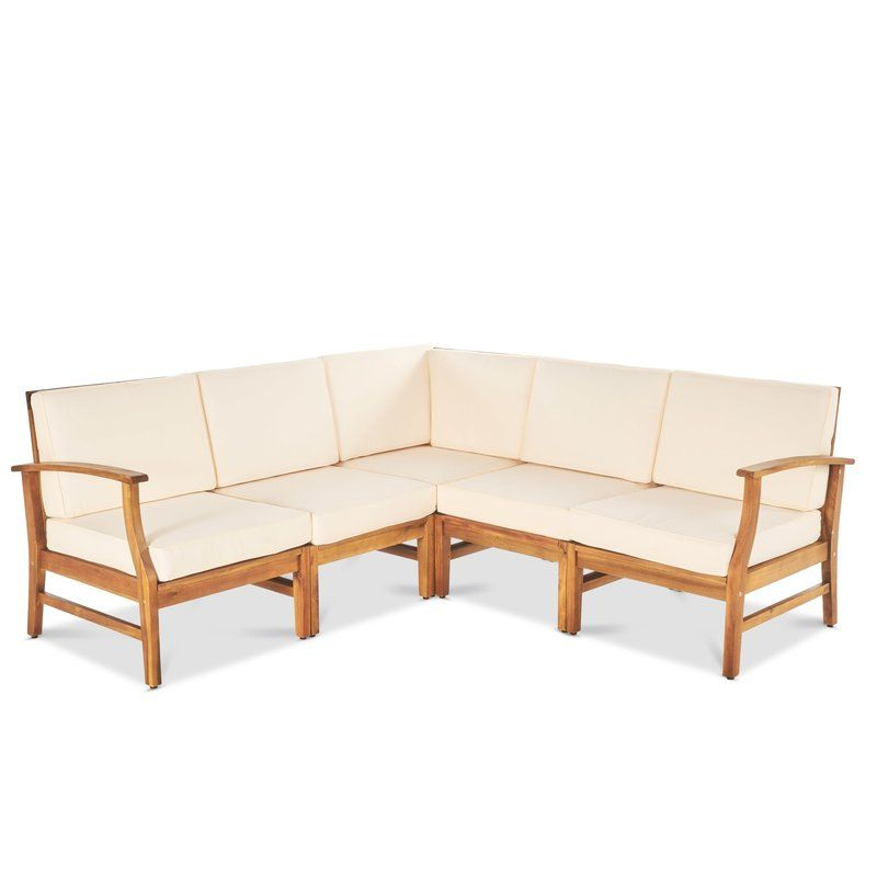 Well Liked Antonia Patio Sectional With Cushions In  (View 20 of 20)