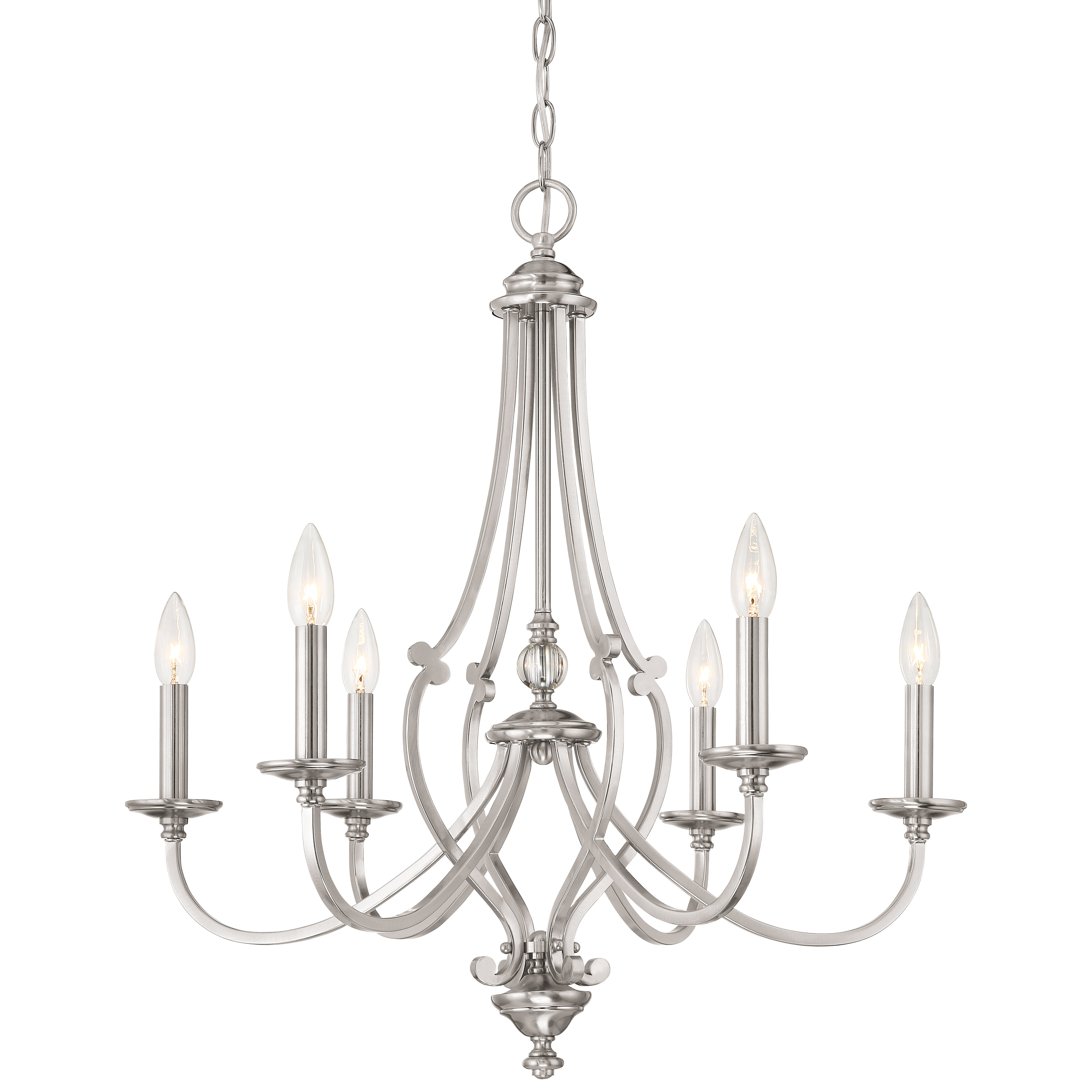 Well Liked Audane 6 Light Chandelier With Berger 5 Light Candle Style Chandeliers (View 17 of 20)