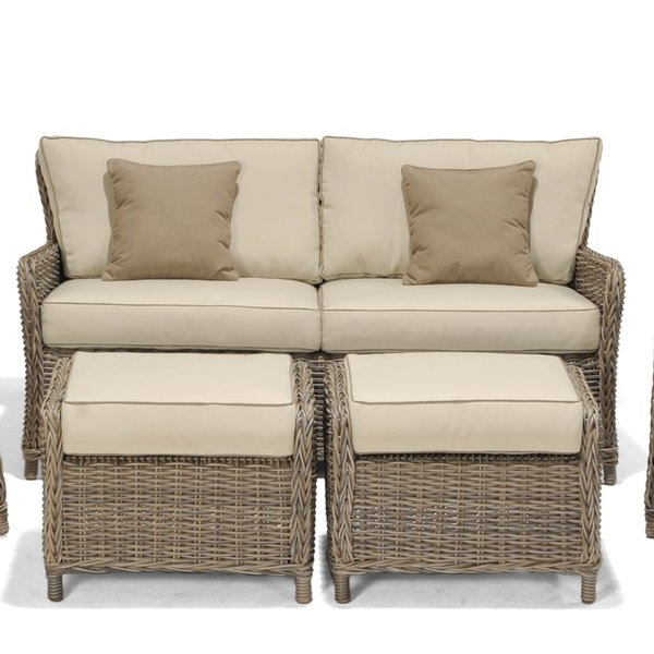 Well Liked Avadi Outdoor Sofa & Ottomans 3 Piece Set In Avadi Outdoor Sofas & Ottomans 3 Piece Set (Gallery 1 of 20)