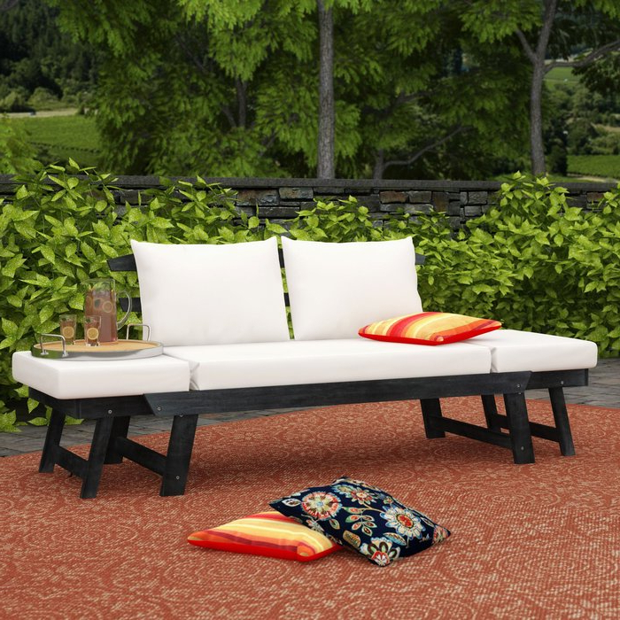 Well Liked Beal Patio Daybeds With Cushions Intended For Beal Patio Daybed With Cushions (View 18 of 20)
