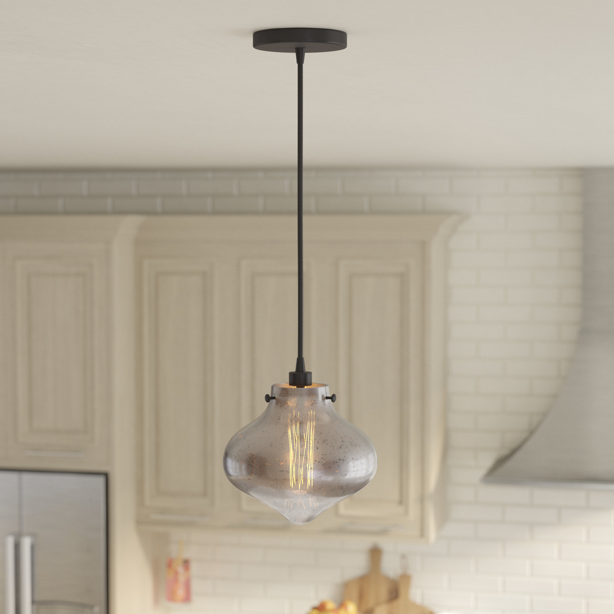 Well Liked Betsy 1 Light Single Globe Pendants Regarding Betsy 1 Light Glass Shade Schoolhouse Pendant (View 4 of 20)