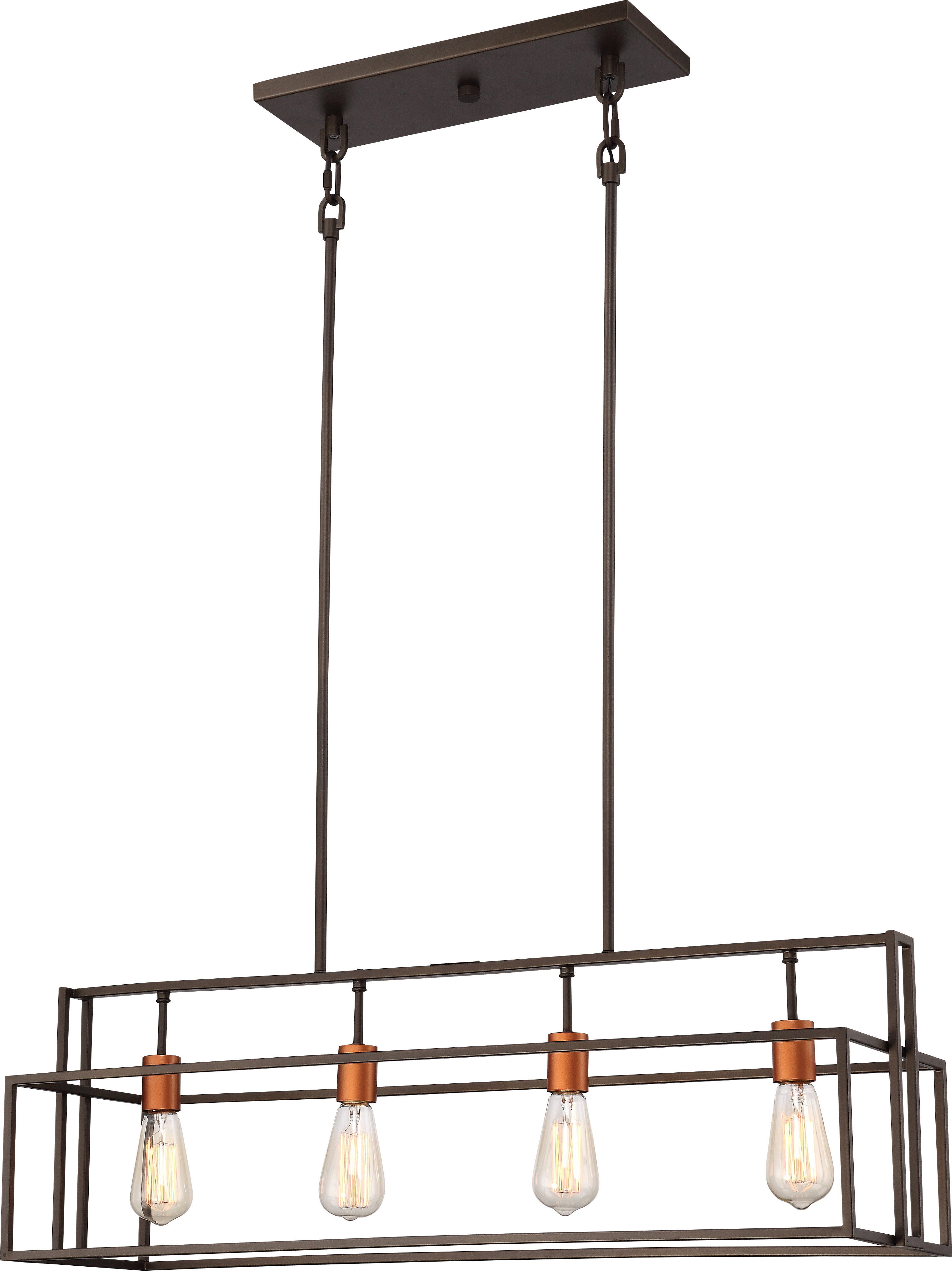 Well Liked Bouvet 5 Light Kitchen Island Linear Pendants Inside Jefferson 4 Light Kitchen Island Linear Pendant (View 19 of 20)