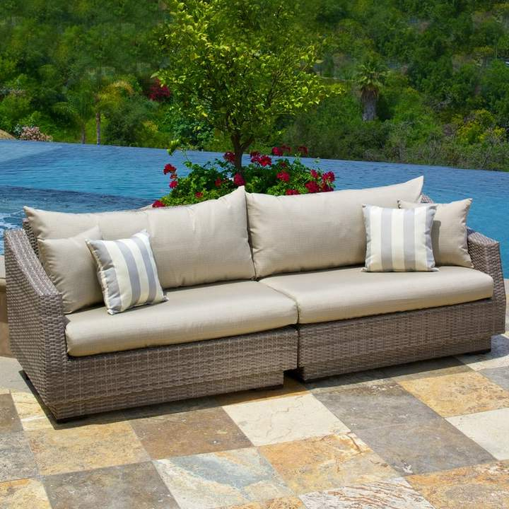 Well Liked Castelli Patio Sofas With Sunbrella Cushions Intended For Wade Logan Castelli Sofa With Sunbrella Cushions In (View 8 of 20)