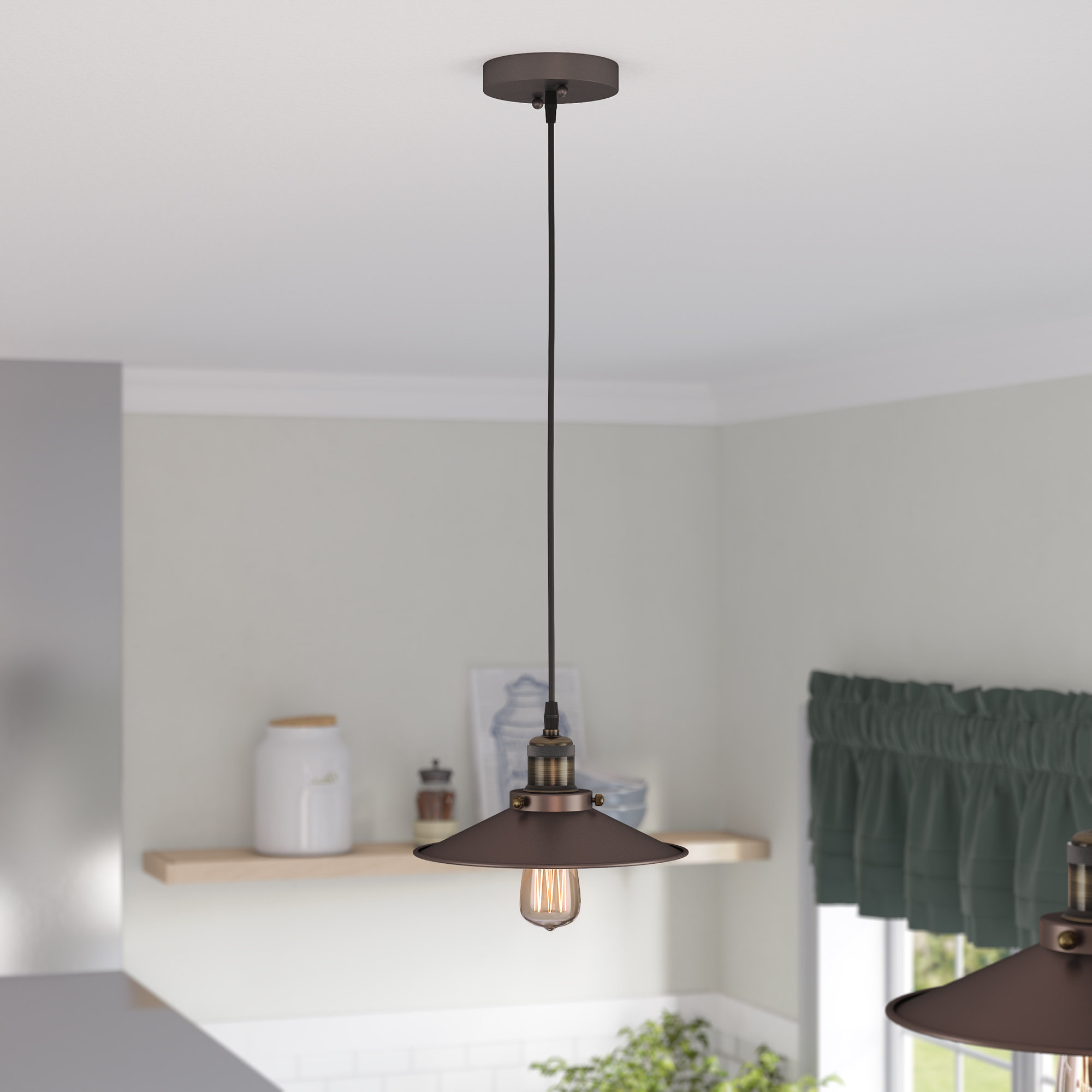 Well Liked Cinchring 1 Light Cone Pendants Pertaining To Bouvet 1 Light Cone Pendant (View 19 of 20)