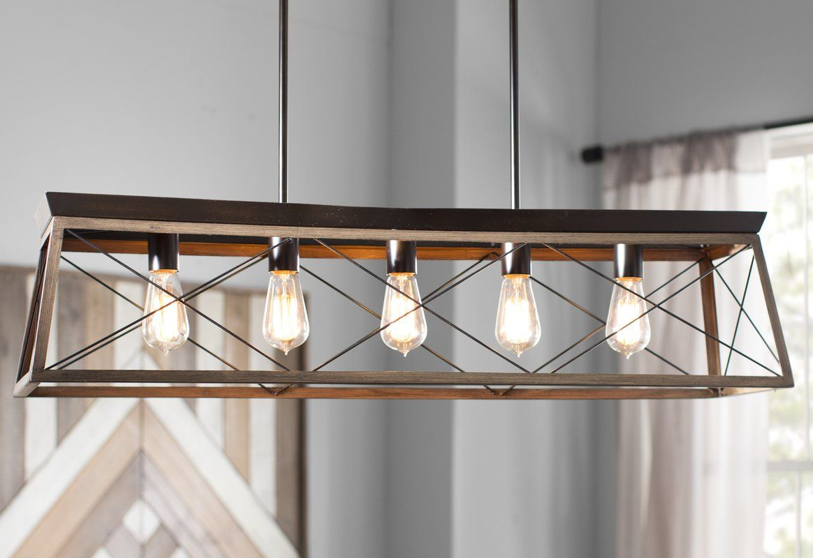 Well Liked Delon 5 Light Kitchen Island Linear Pendant (View 18 of 20)
