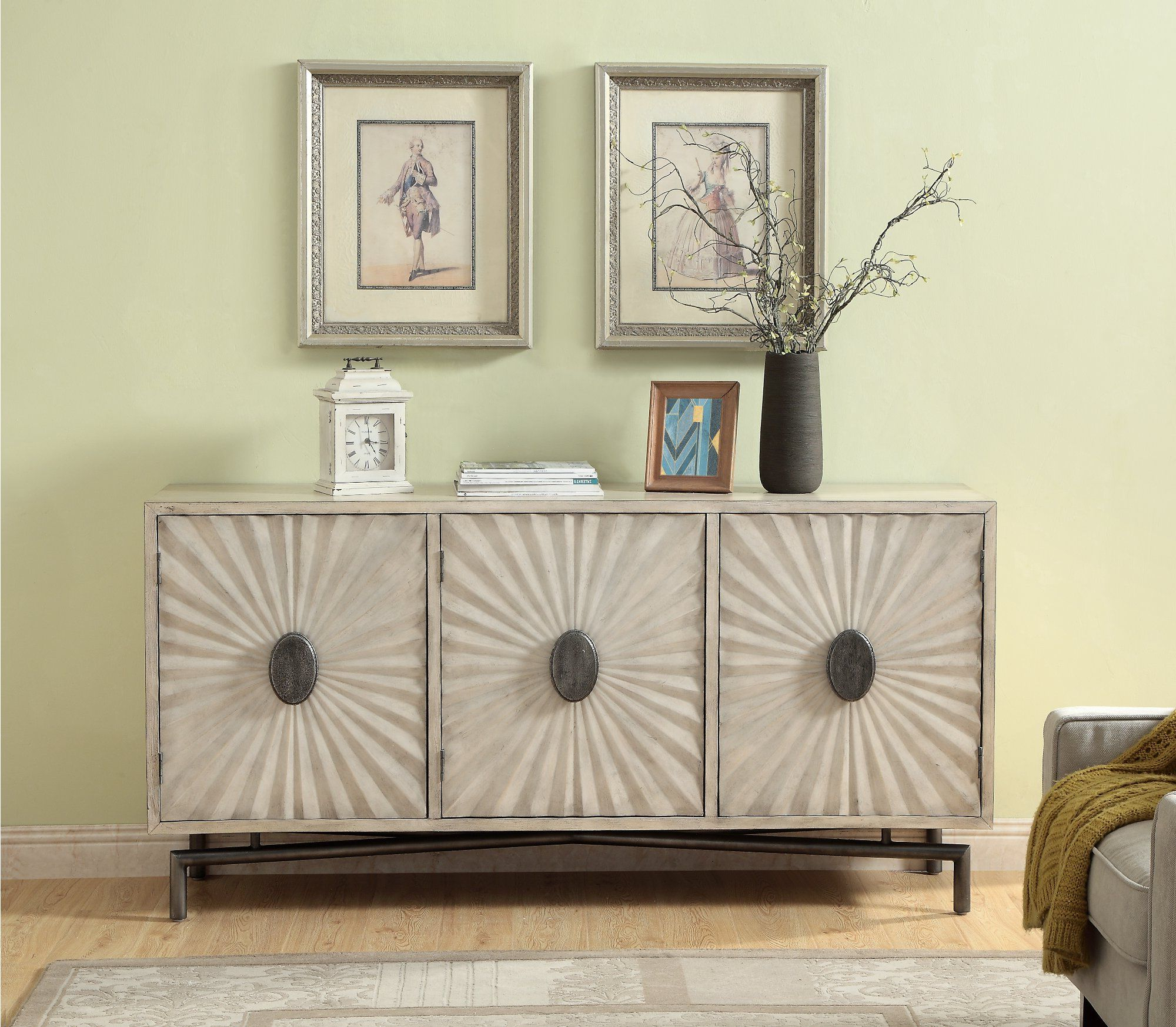 Well Liked Errol Media Credenzas Inside Modern Cream 3 Door Credenza – Dayton (Gallery 16 of 20)