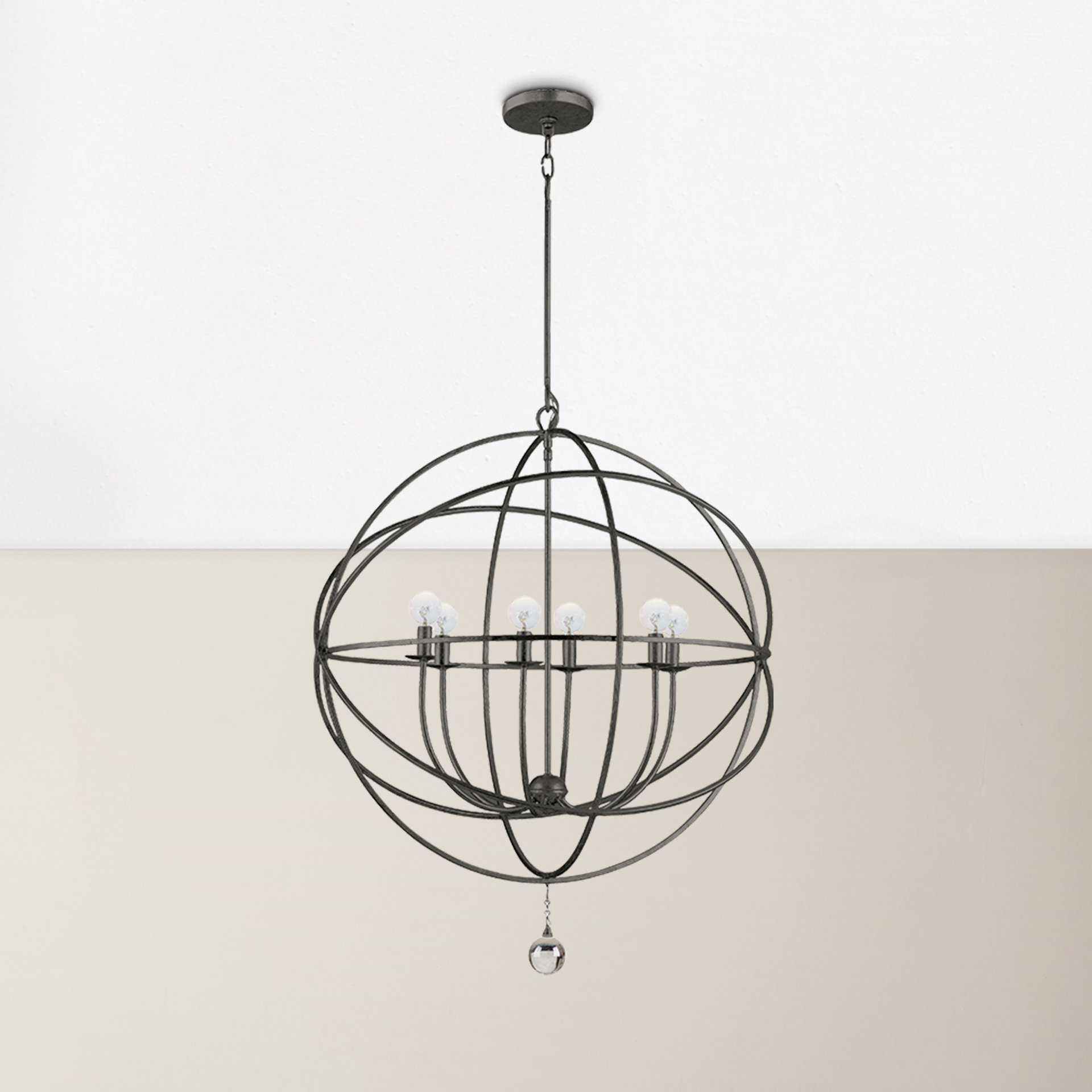 Well Liked Gregoire 6 Light Globe Chandeliers Throughout Willa Arlo Interiors Gregoire 6 Light Globe Chandelier (Gallery 6 of 20)