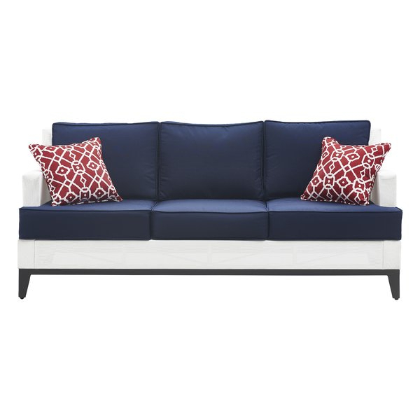 Well Liked Hampton Patio Sofa With Cushions With Regard To Kunz Loveseats With Cushions (View 20 of 20)