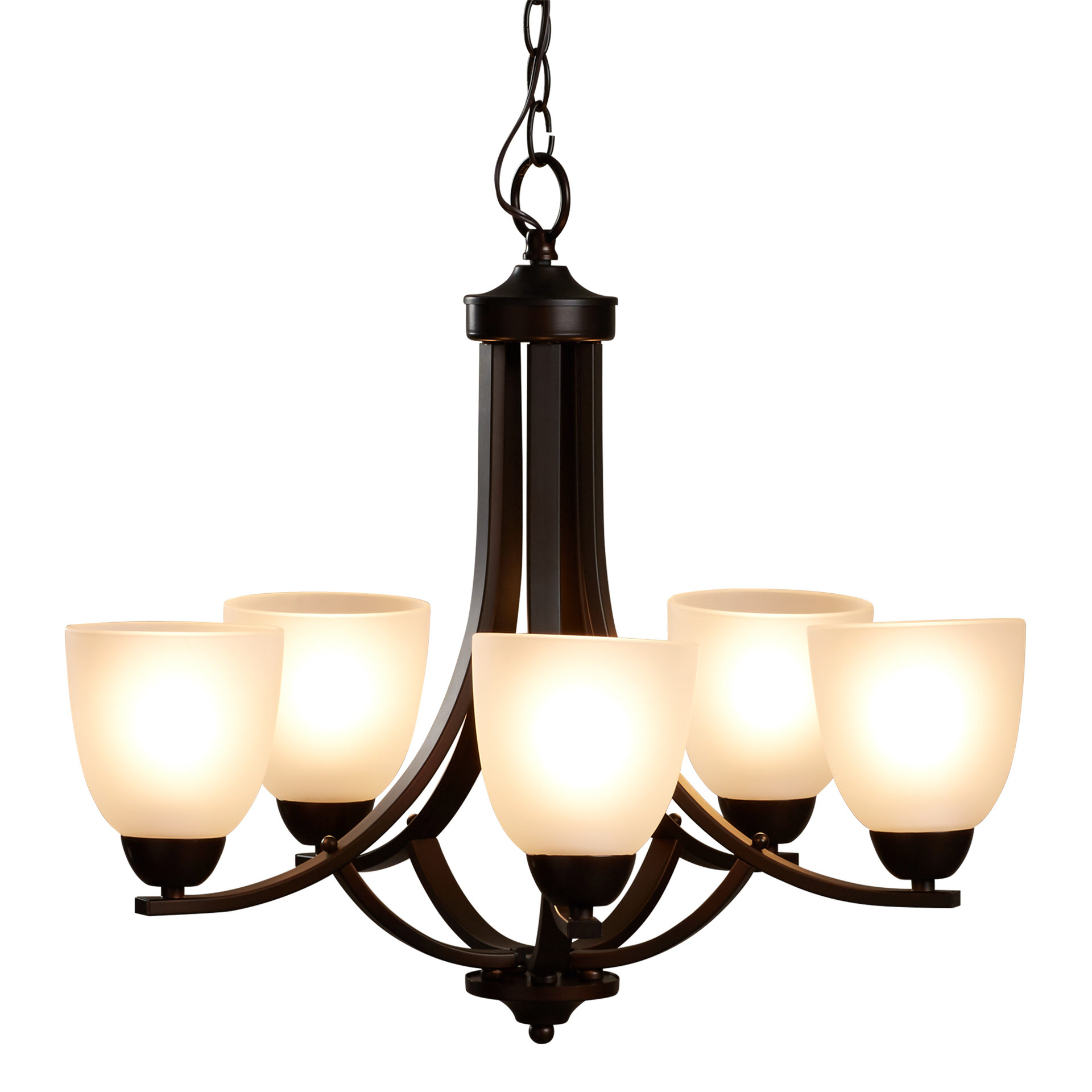 Well Liked Hayden 5 Light Shaded Chandelier In Crofoot 5 Light Shaded Chandeliers (View 20 of 20)