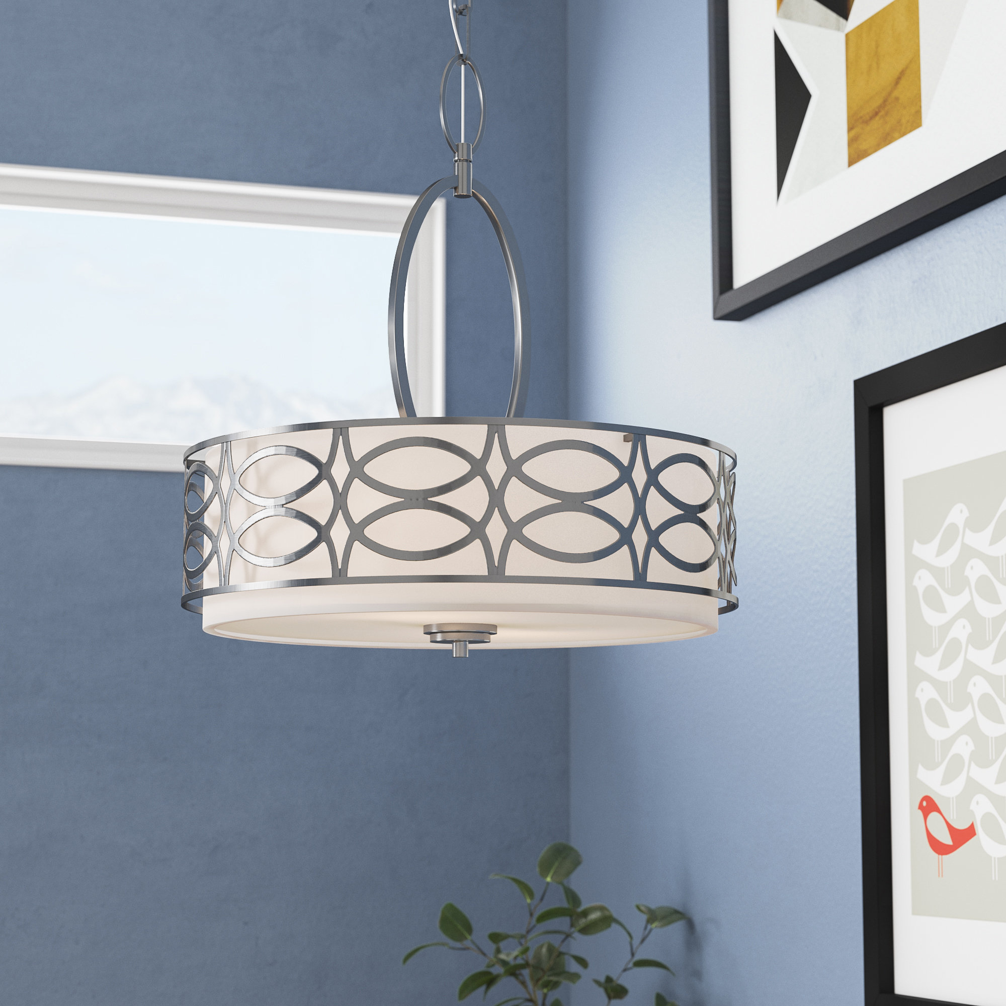 Well Liked Helina 1 Light Pendants Intended For Helina 3 Light Pendant (View 20 of 20)