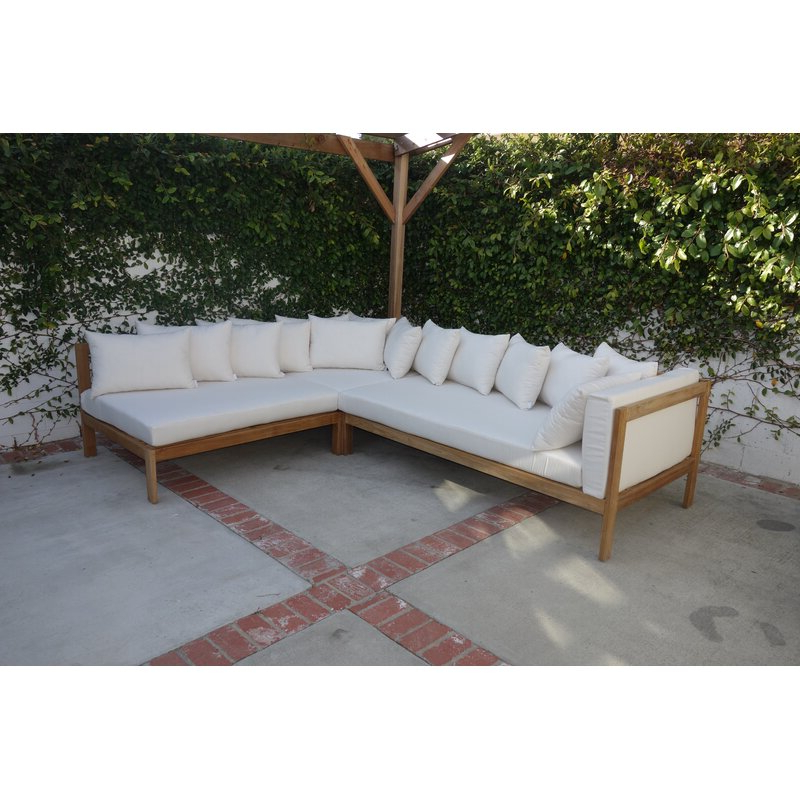 Well Liked Jerrie Patio Sectional With Sunbrella Cushions With Regard To Wrobel Patio Sectionals With Cushion (View 16 of 20)