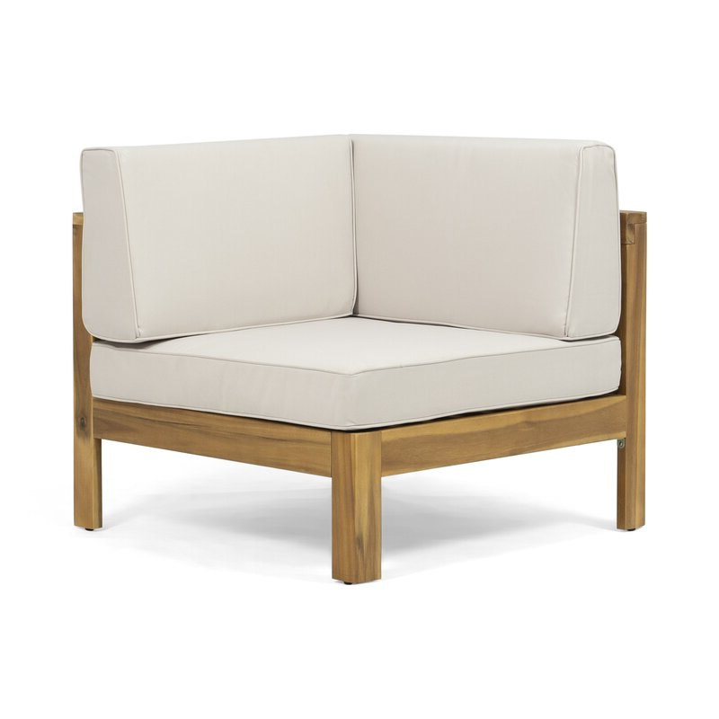 Well Liked Kennison Patio Sectional With Cushions Intended For Bullock Outdoor Wooden Loveseats With Cushions (View 20 of 20)