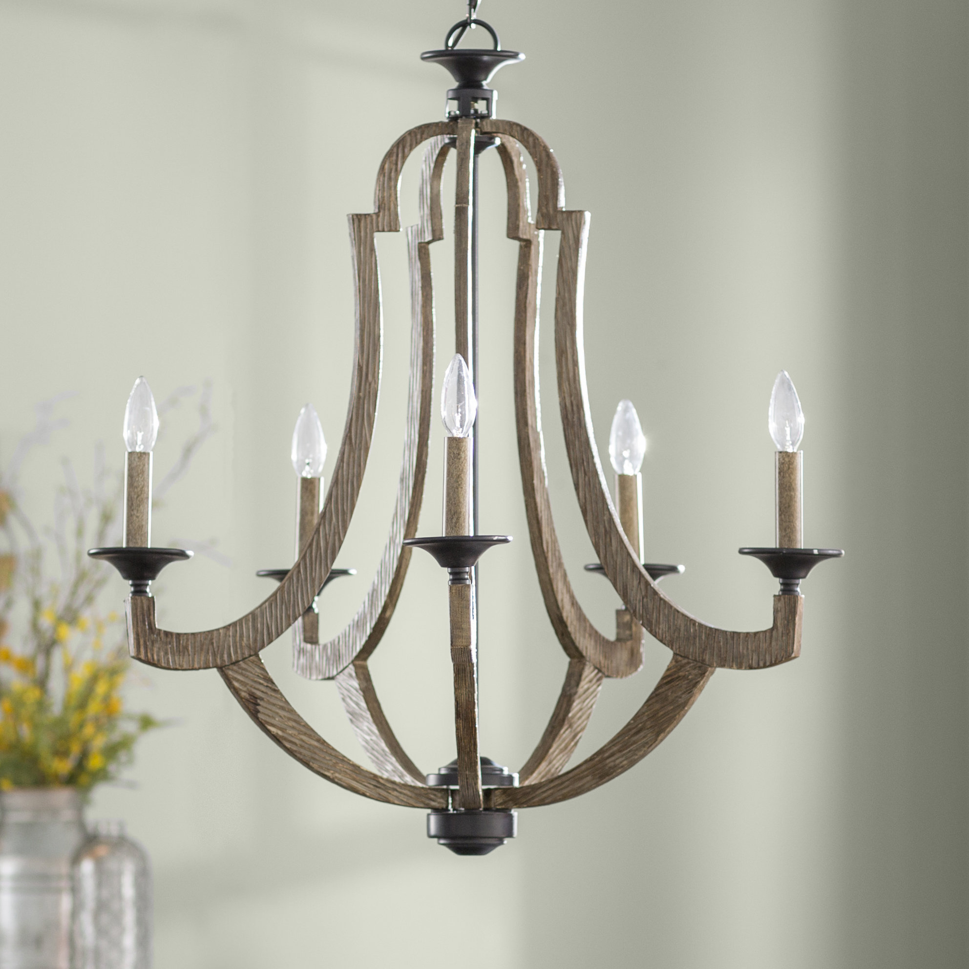 Well Liked Laurel Foundry Modern Farmhouse Marcoux 5 Light Empire Chandelier For Kenna 5 Light Empire Chandeliers (View 19 of 20)