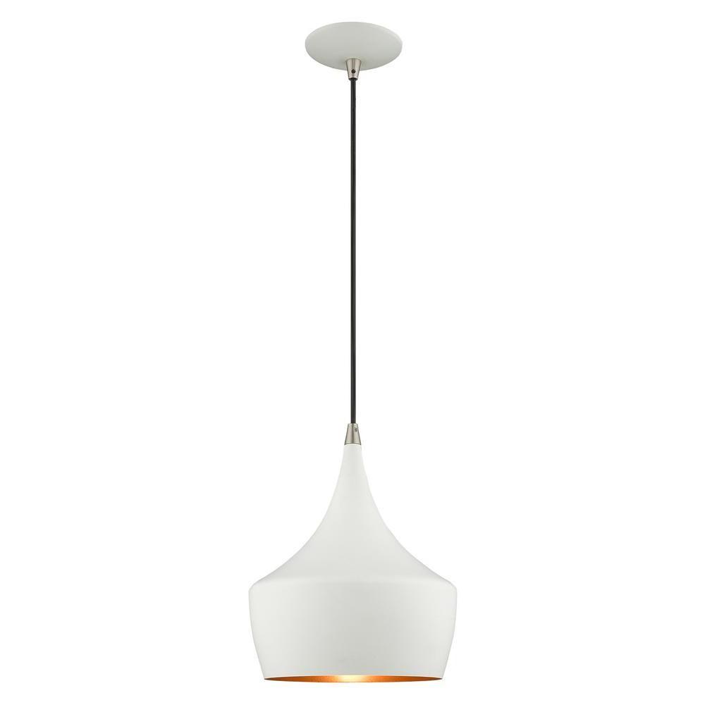 Well Liked Livex Lighting 1 Light White Mini Pendant 41186 03 – The Within Berenice 3 Light Cluster Teardrop Pendants (View 20 of 20)