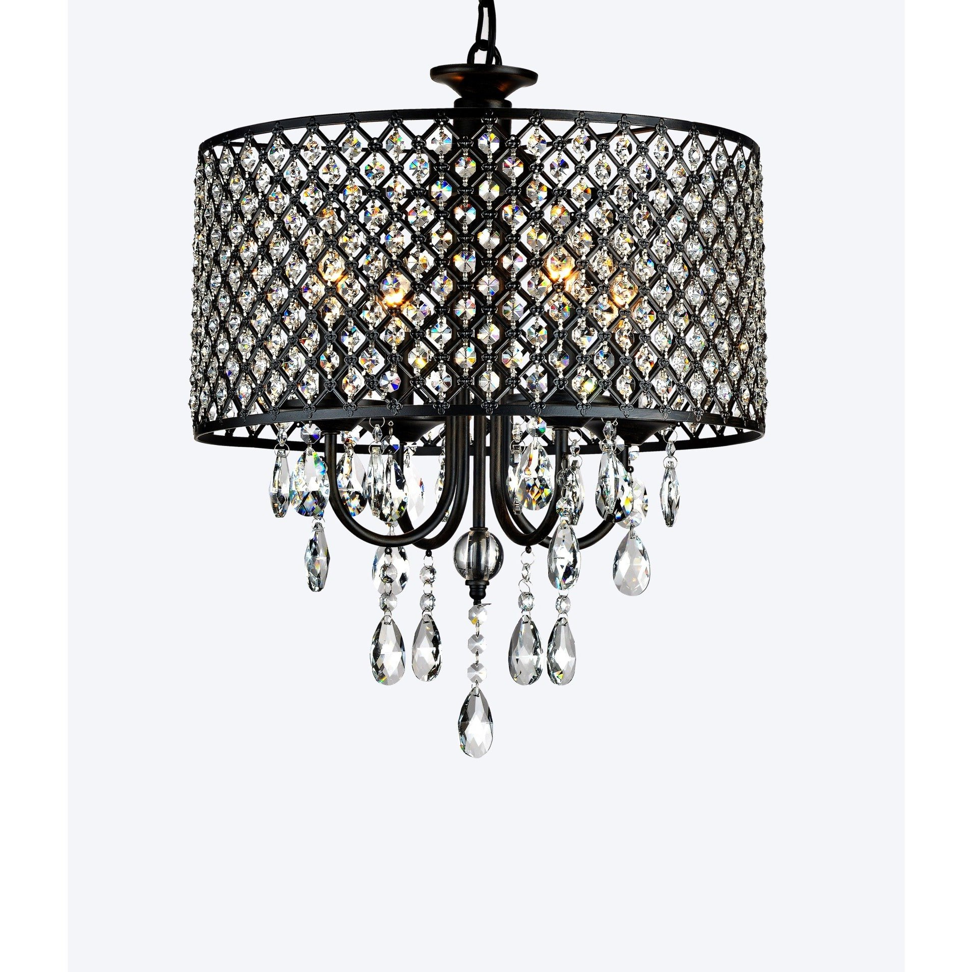 Well Liked Mckamey Round 4 Light Crystal Chandelier In Mckamey 4 Light Crystal Chandeliers (Gallery 3 of 20)