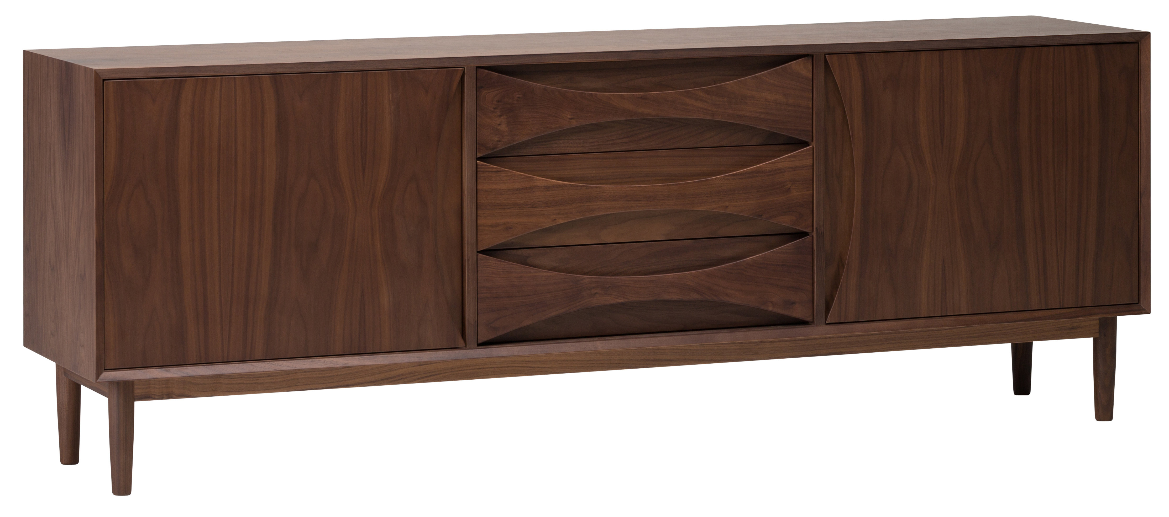 Well Liked Modern & Contemporary Elyza 4 Door Credenza (Gallery 17 of 20)