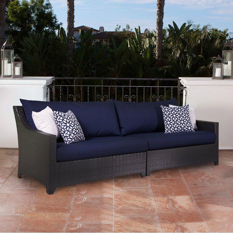 Well Liked Northridge Patio Sofa With Sunbrella Cushions Intended For Northridge Patio Sofas With Sunbrella Cushions (Gallery 1 of 20)