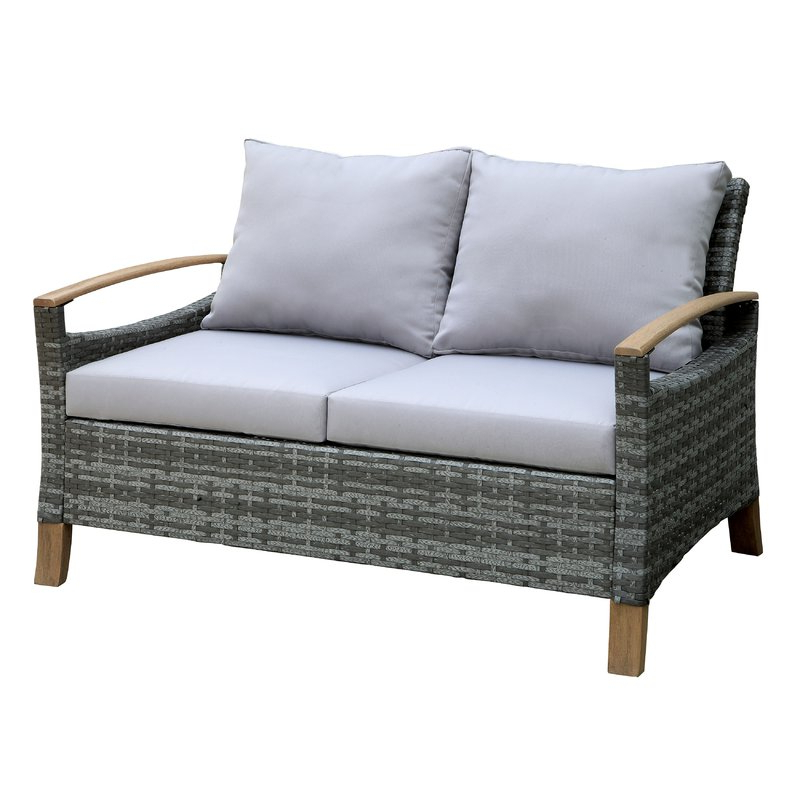Well Liked Penniman Contemporary Loveseat With Cushions Pertaining To Pantano Loveseats With Cushions (View 20 of 20)