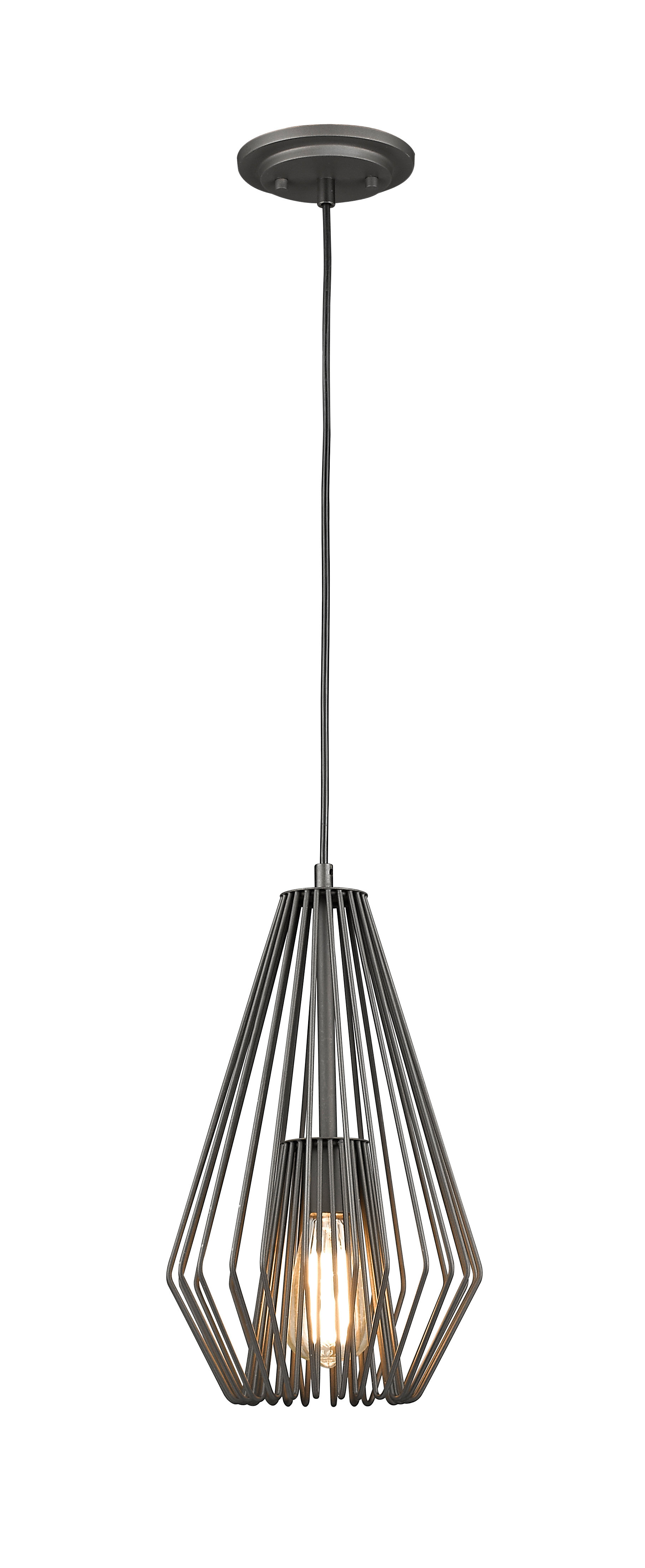 Well Liked Risher 1 Light Geometric Pendant Pertaining To Hydetown 1 Light Single Geometric Pendants (View 6 of 20)