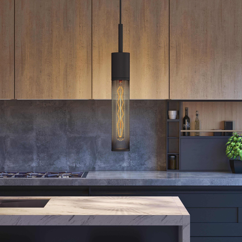 Featured Photo of Schutt 1 Light Cylinder Pendants