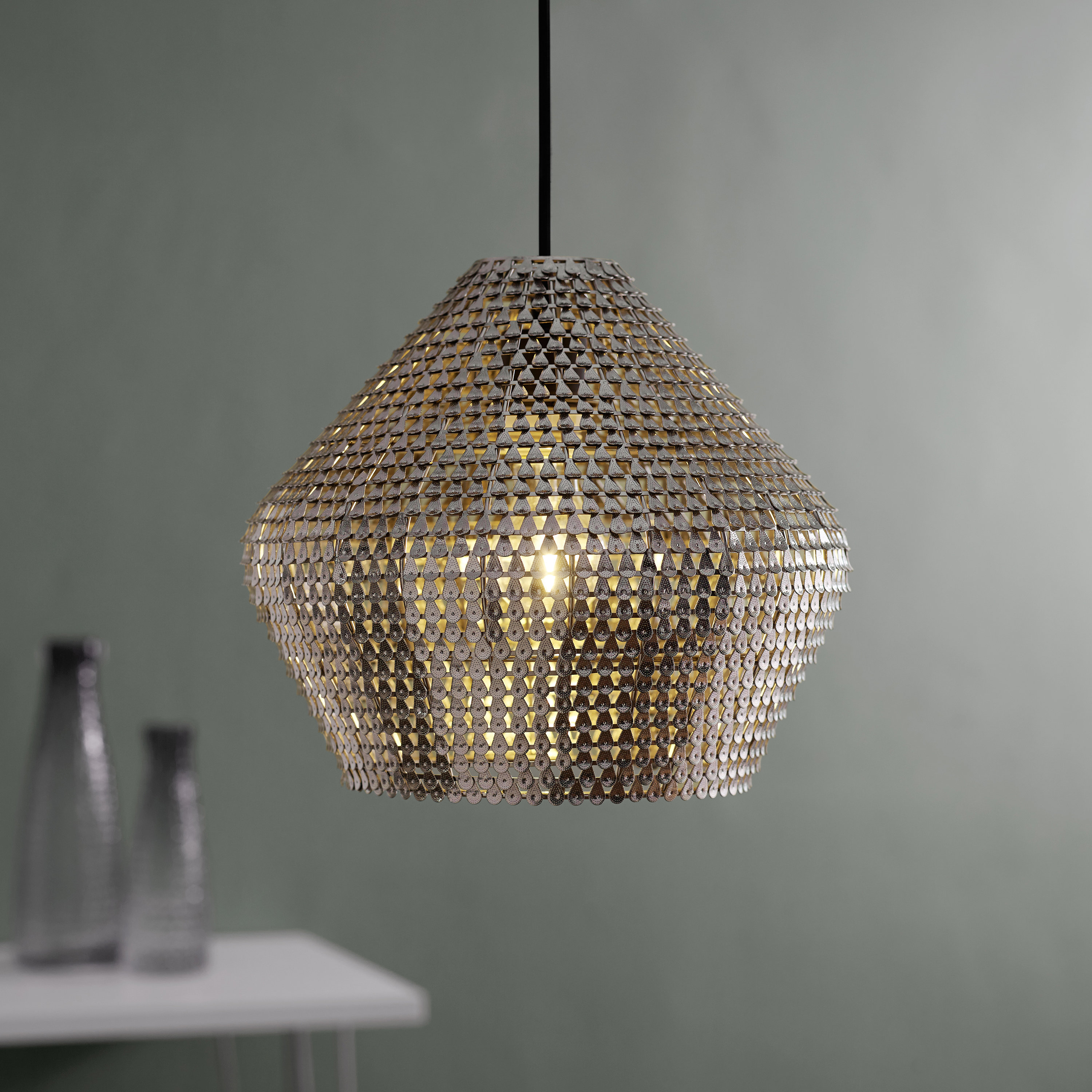 Well Liked Scruggs 1 Light Geometric Pendants For Bloomsbury Market Nowell 1 Light Geometric Pendant & Reviews (View 19 of 20)