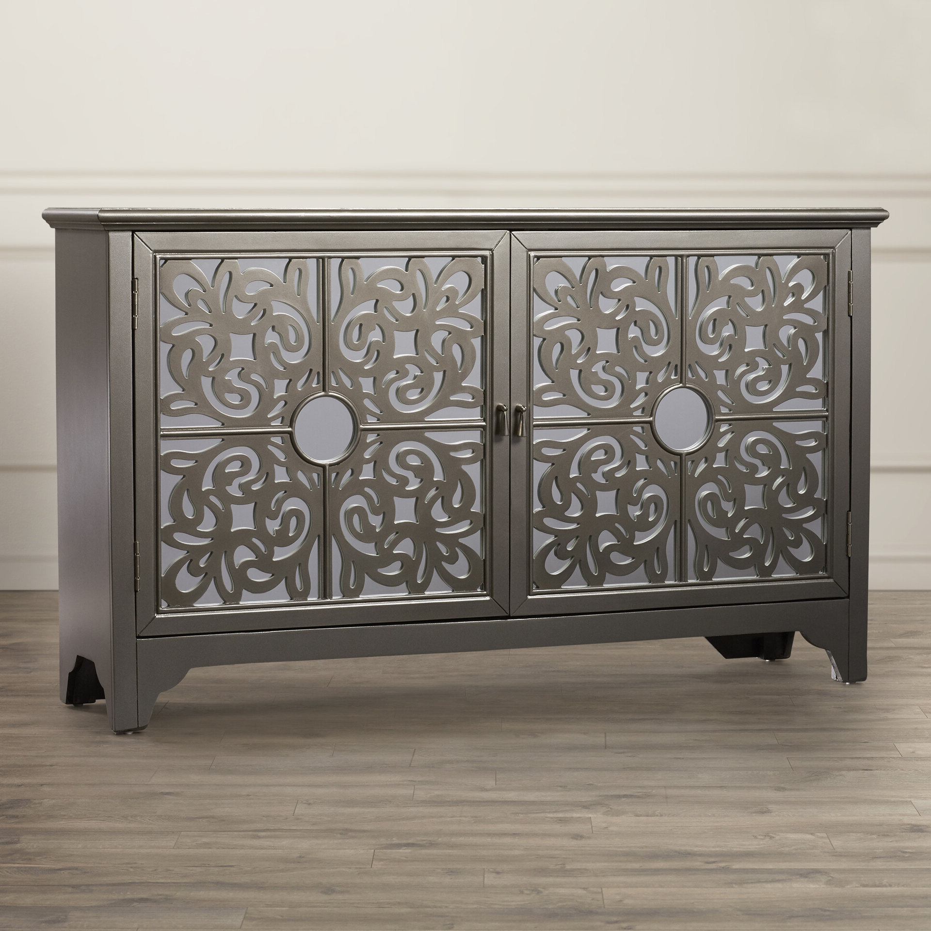 Well Liked Senda Credenzas With Farmhouse & Rustic Mirrored Sideboards & Buffets (View 20 of 20)